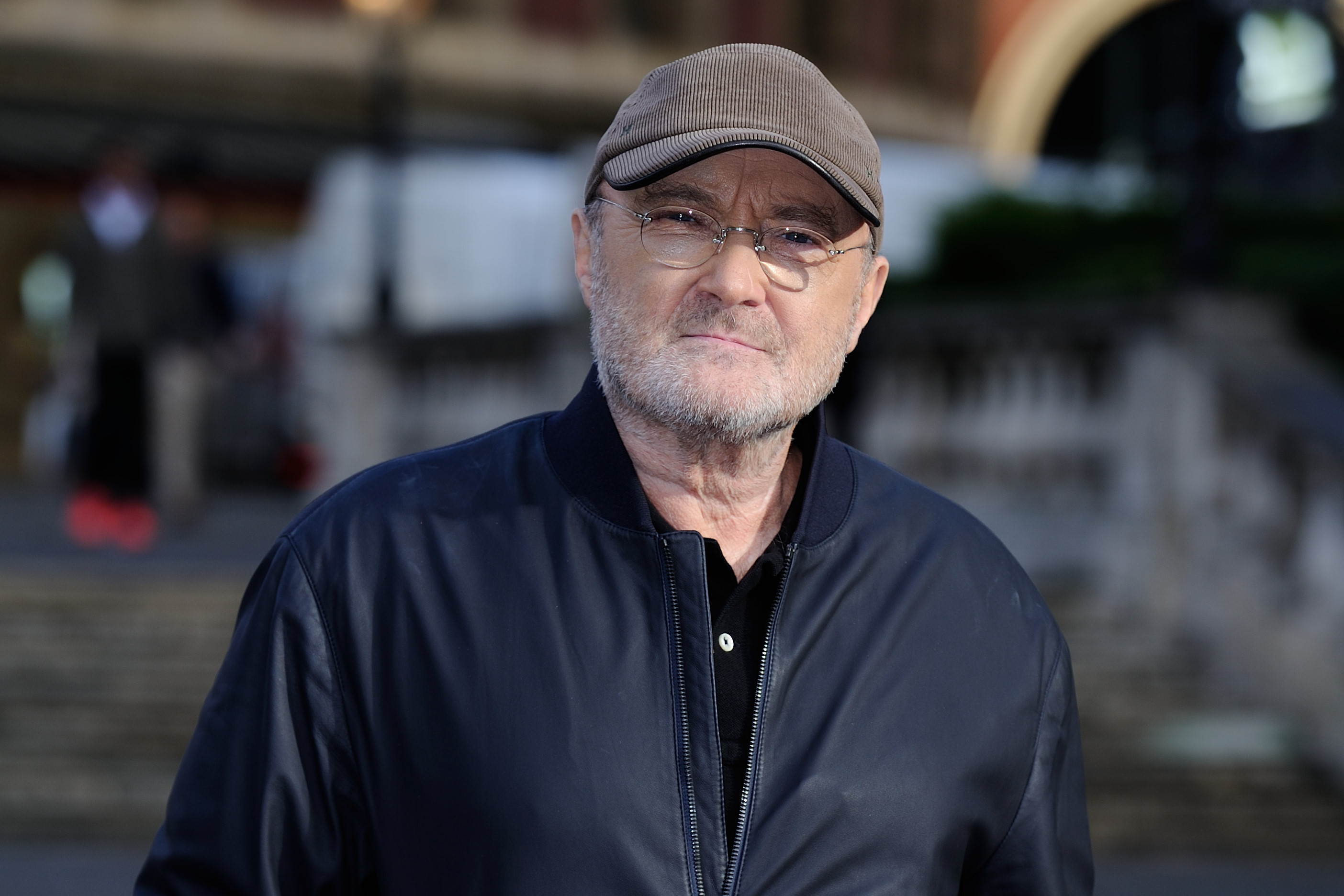 Phil Collins attending a photocall to announce his 'Not Dead Yet' tour at the Royal Albert Hall in London, England on October 17, 2016. Photo by Aurore Marechal/Sipa USA