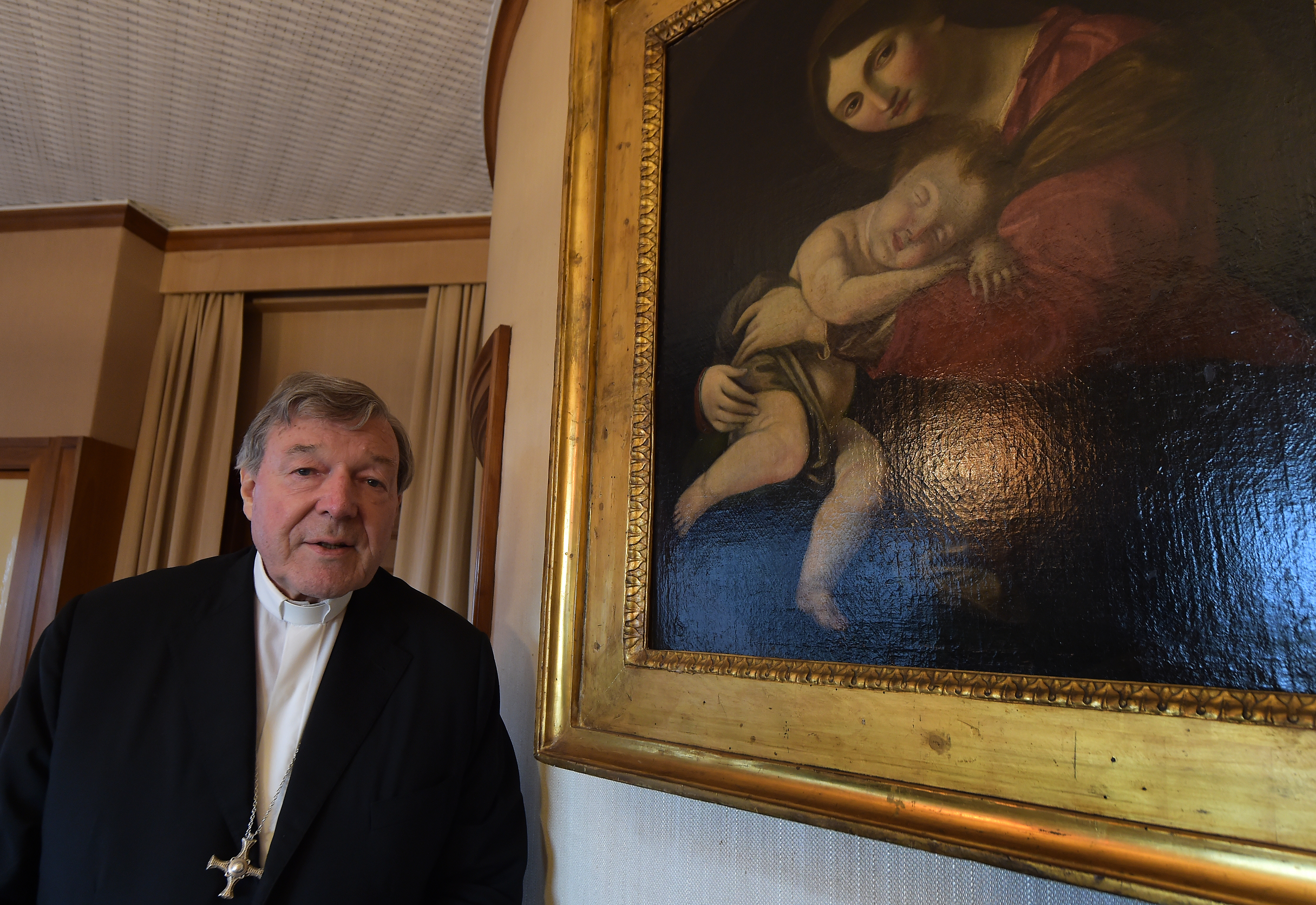 Australian Cardinal George Pell poses at his office in the San Giovanni Tower at the Vatican on Oct.16, 2014.