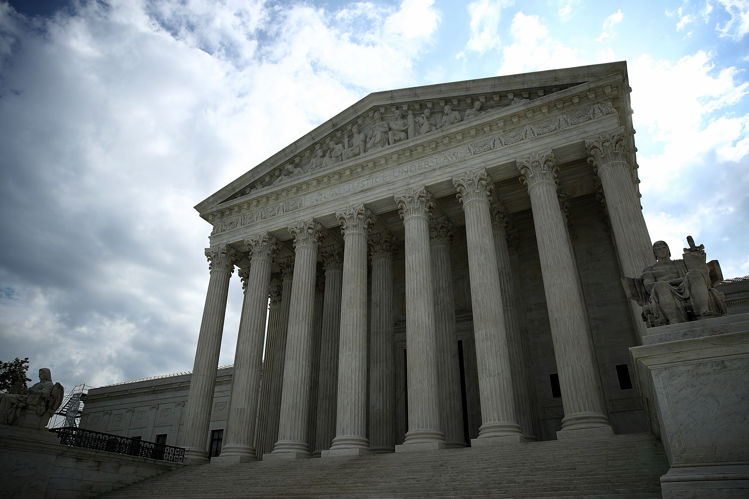 The U.S. Supreme Court is shown as the court meets to issue decisions May 23, 2016 in Washington, DC.