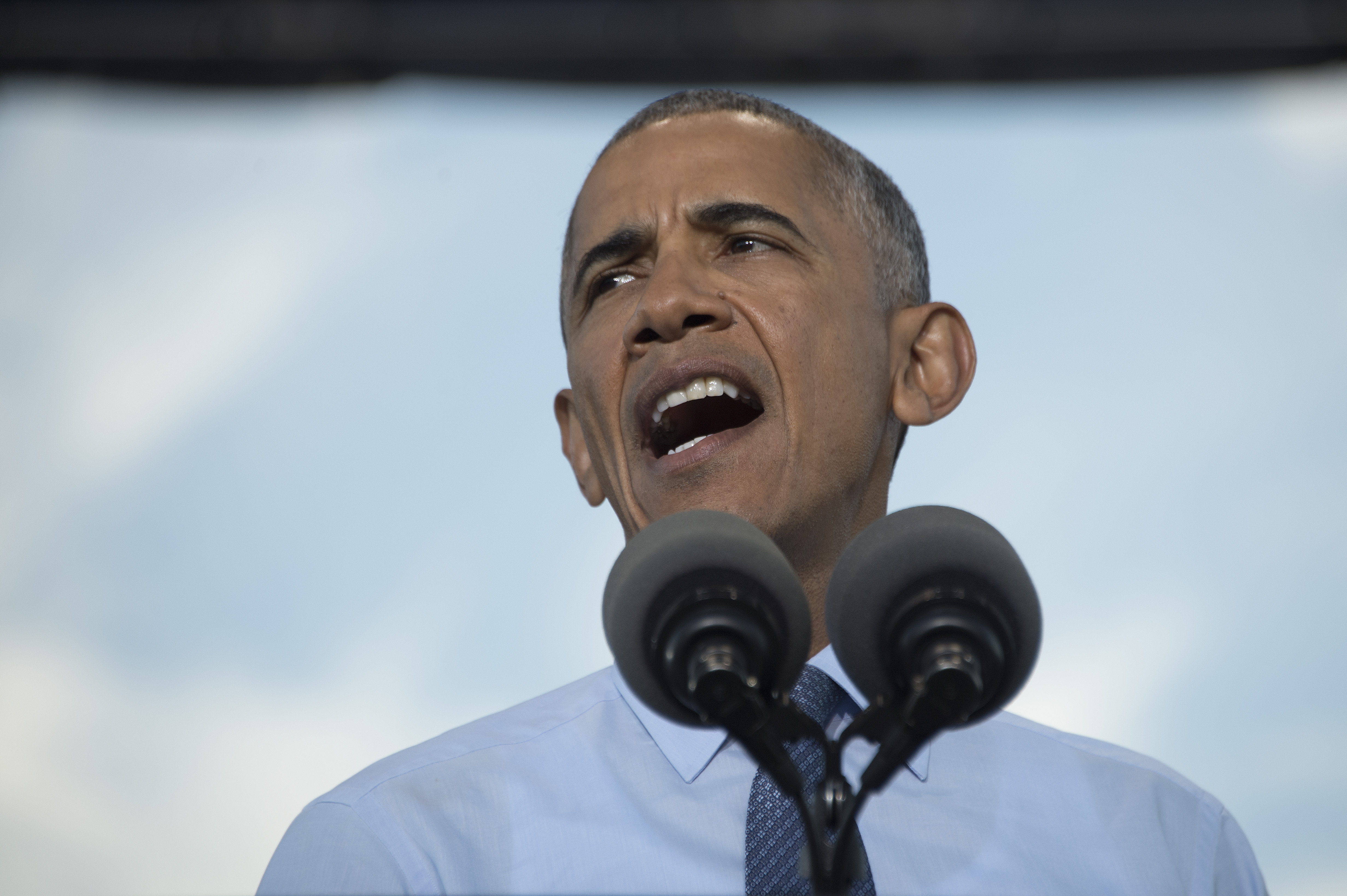 Barack Obama speaks during a Hillary for America campaign event in Greensboro, N.C., on Oct. 11, 2016.