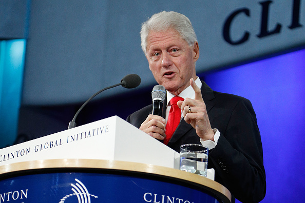 President Bill Clinton gives a farewell address at the 2016 Clinton Global Initiative Annual Meeting at Sheraton New York Times Square in New York on Sept. 21, 2016.