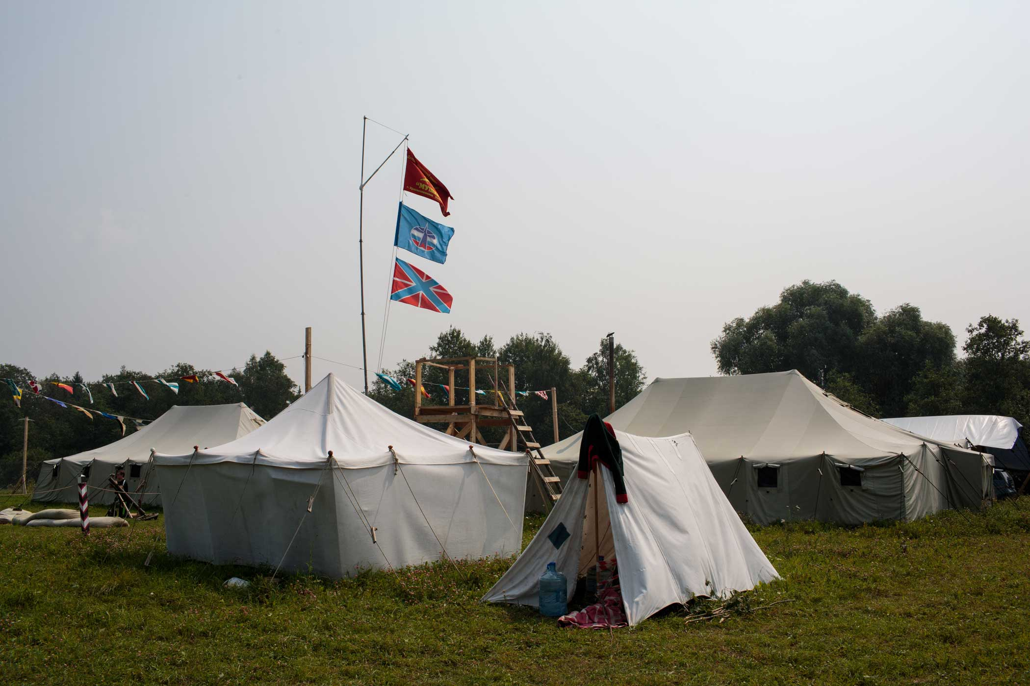 Historical-War Camp in Borodino, Russia. Borodino is where the deadliest day of the Napoleonic War was fought in 1812.