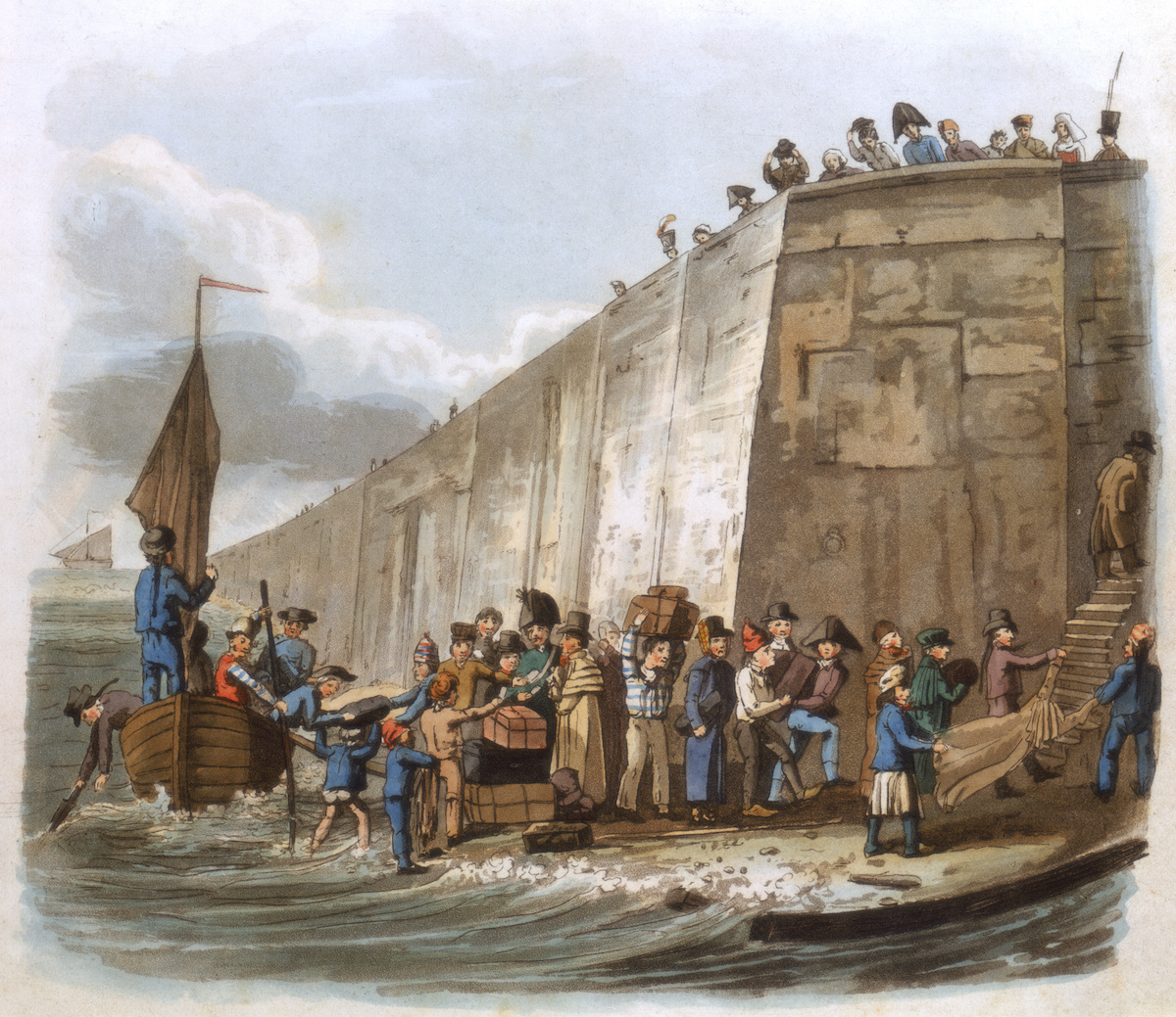 'Arrival at Calais', 1816. From French Characteristic Costume.