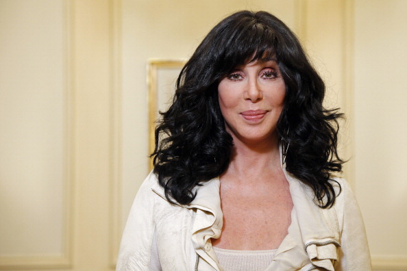 US singer and actress Cher poses in Paris