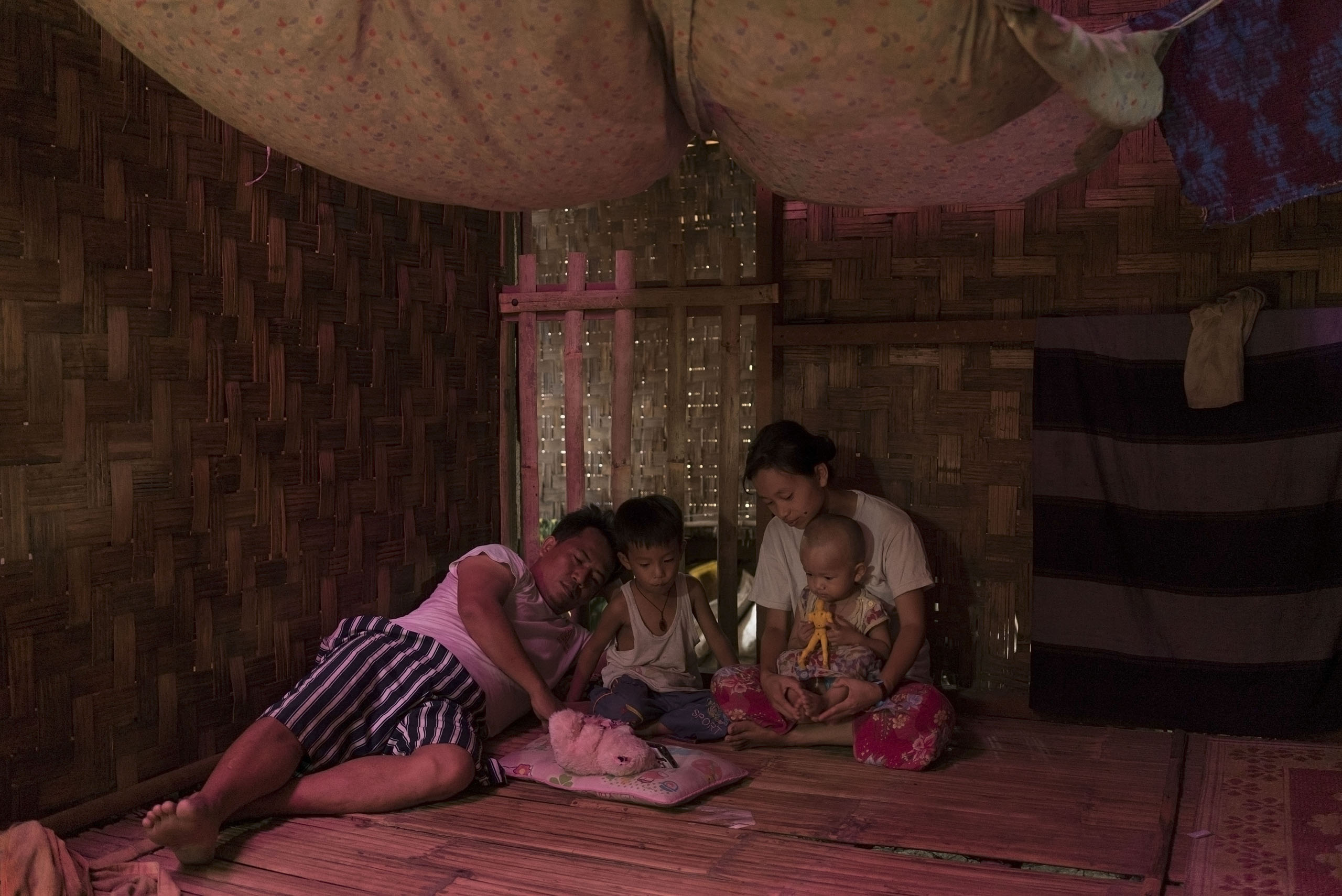 An internally displaced people (IDP) camp of ethnic Kachin people, Myitkyina, Myanmar, May, 2016.