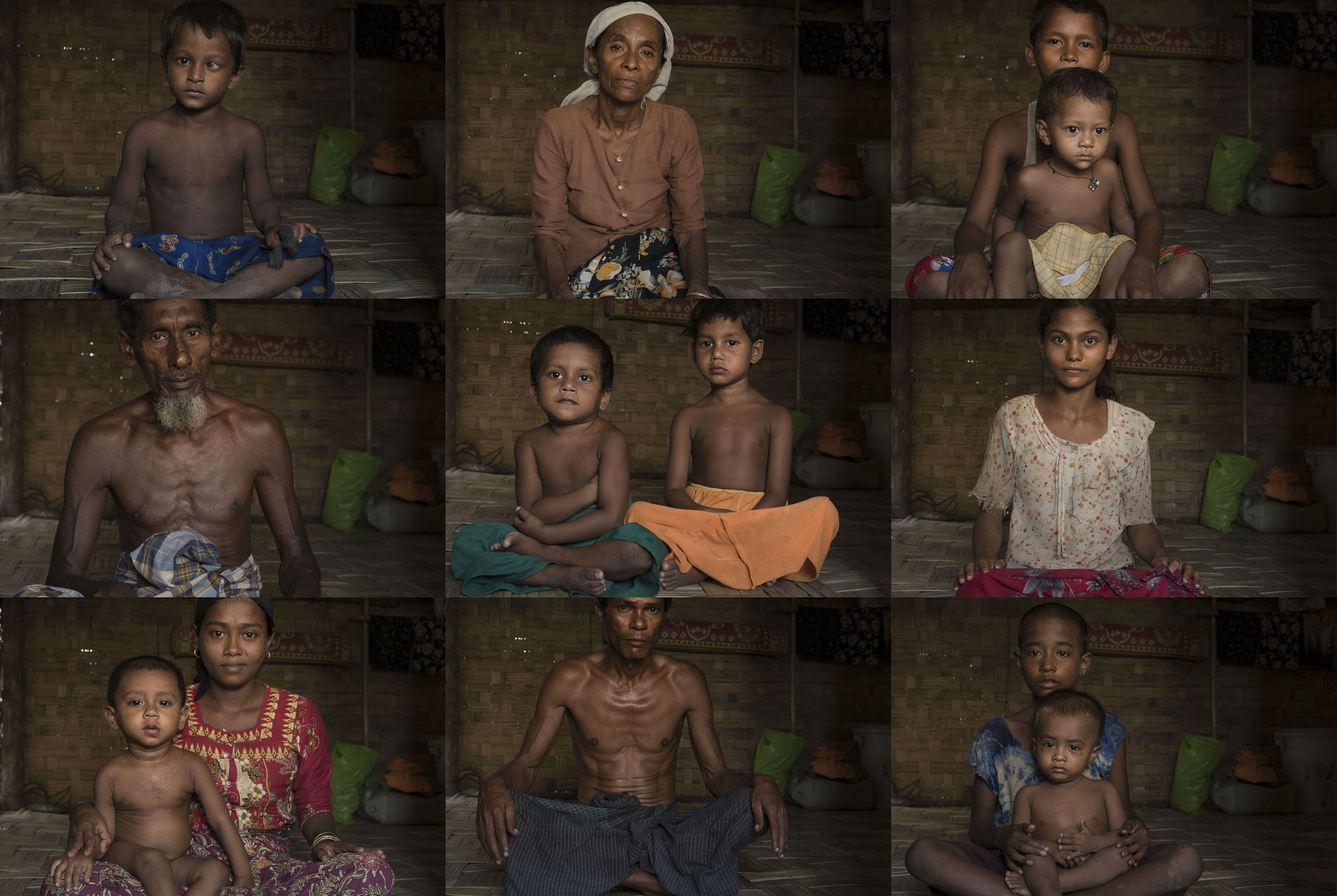 Rohingya people in the Internally Displaced Person (IDP) camps in Sittwe, Myanmar, June, 2016. An estimated 140,000 Rohingya are placed in the IDP camps guarded by the armed police and military.