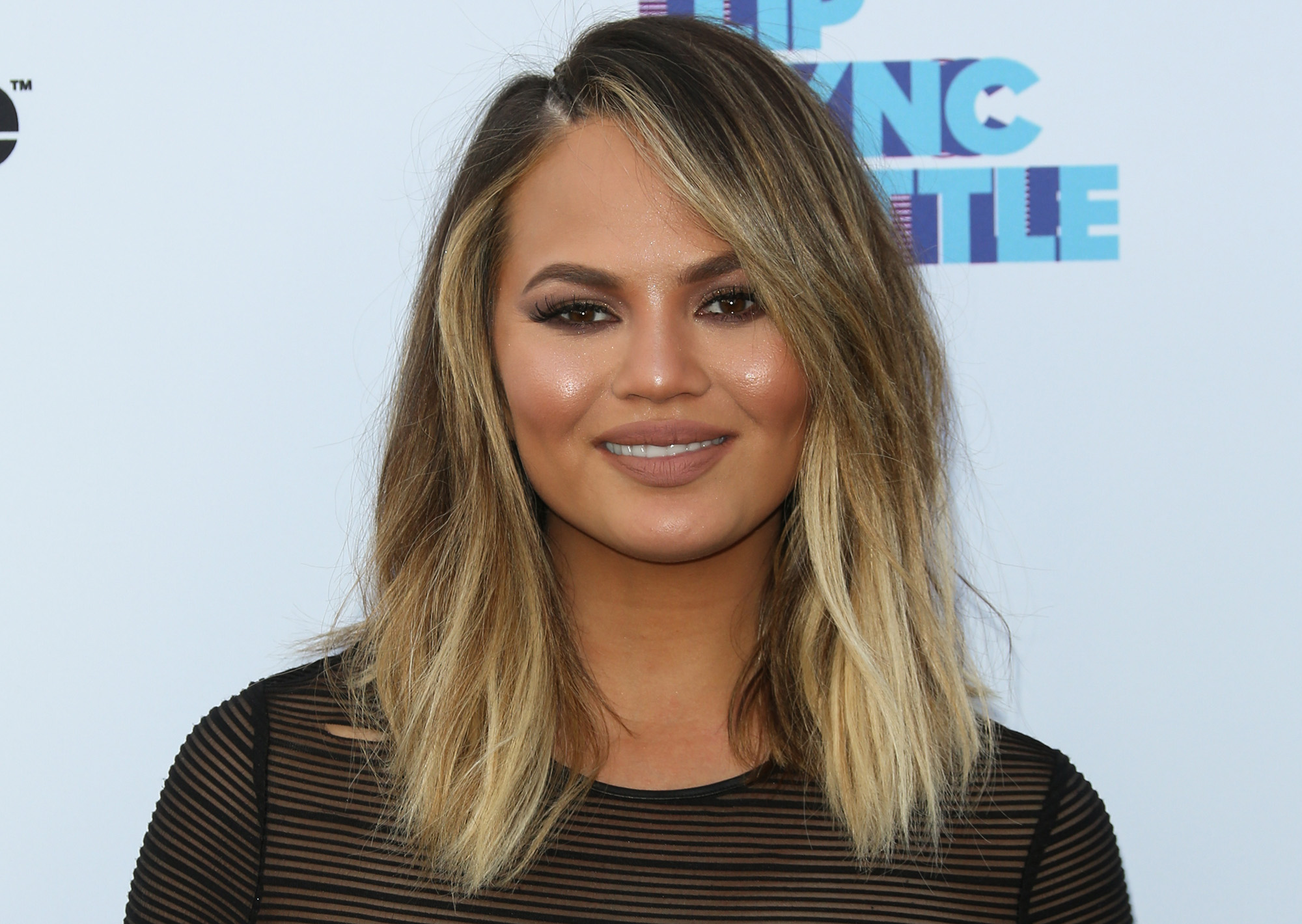 Chrissy Teigen attends the screening of Spike's  Lip Sync Battle  on June 14, 2016 in North Hollywood, California.  (Photo by Paul Archuleta/FilmMagic)