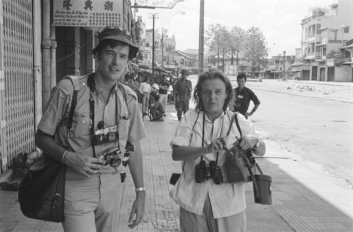 Clare Hollingworth with Life photographer Tim Page in Saigon, June 1968.                                                              EMAILED FOR PERMISSION: http://www.lib.umb.edu/archives/digital/?p=digitallibrary/digitalcontent&id=564