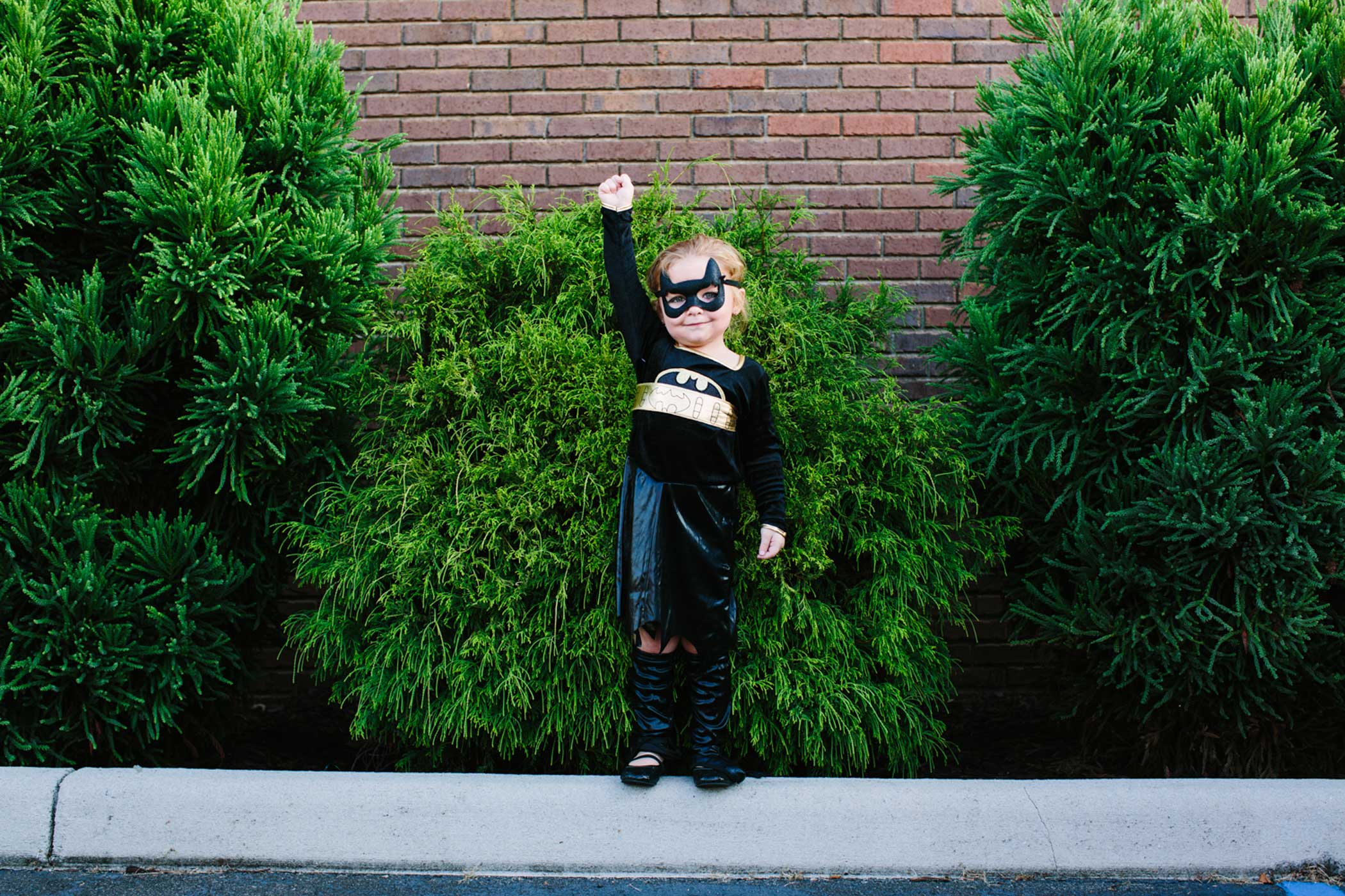 Alean Hillyard, 4, was one of hundreds of children who dressed like superheroes for Jacob Hall's visitation at Oakdale Baptist Church in Townville.