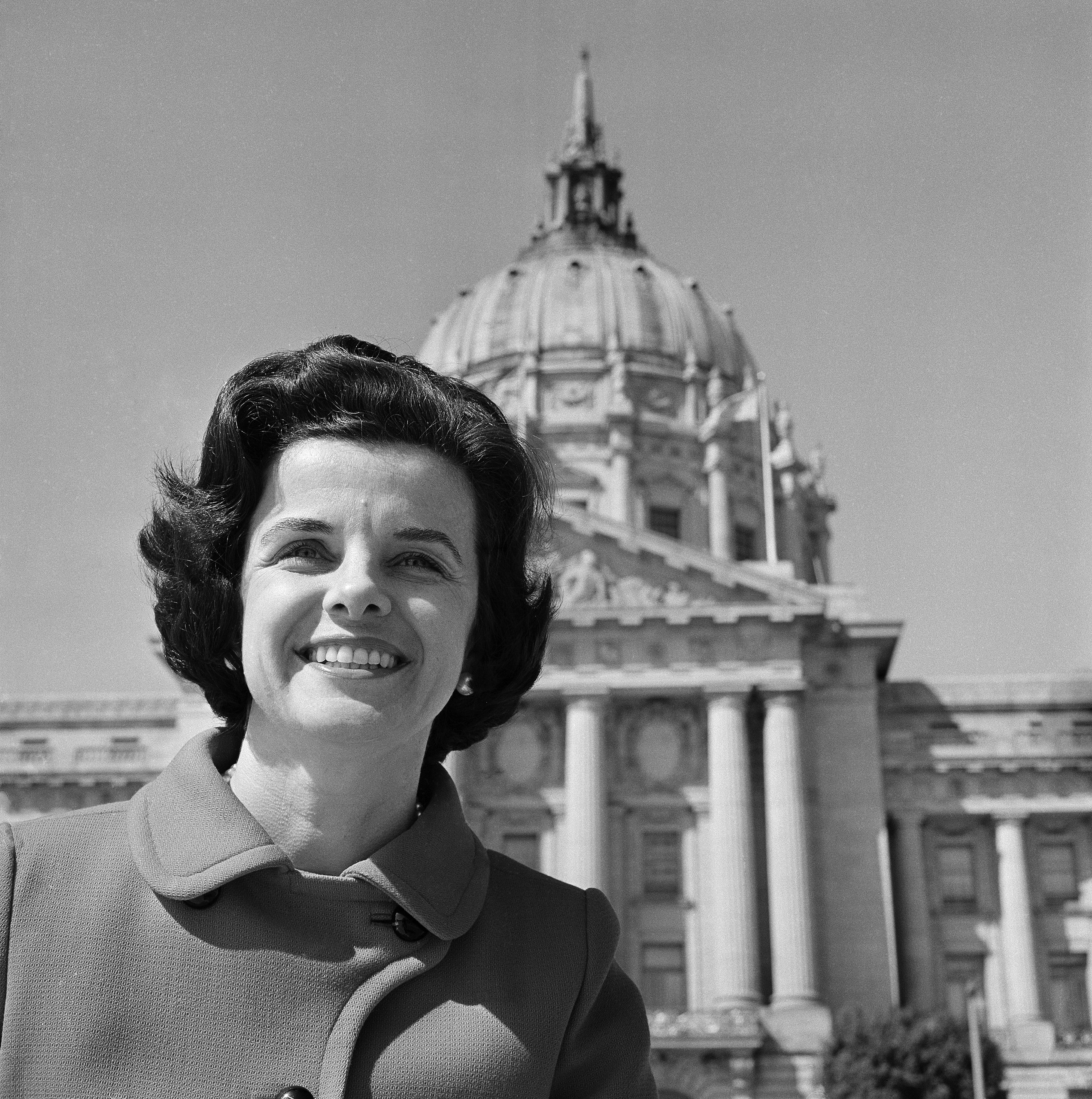 Dianne Feinstein, in front of San Francisco's city hall May 6, 1971.