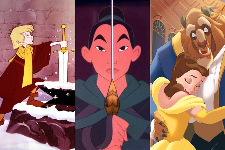 Scenes from Disney's movies