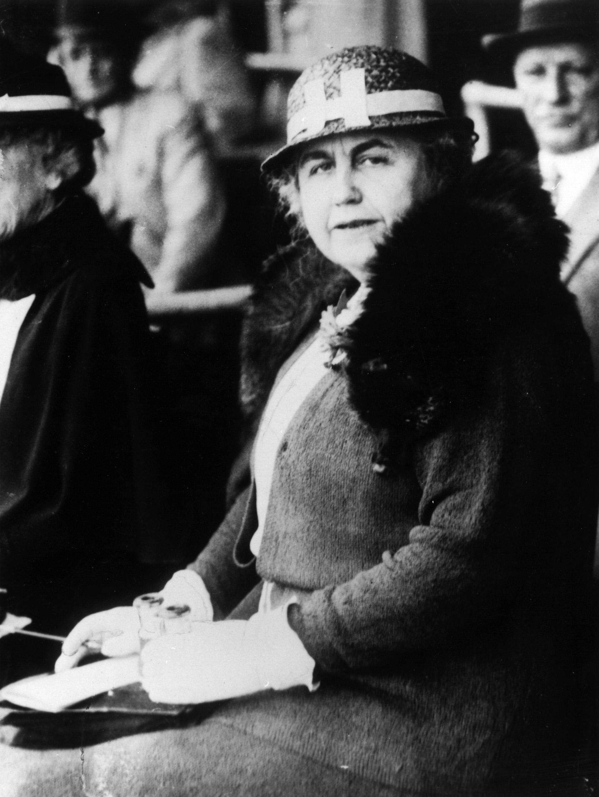 Edith Wilson, wife of President Woodrow Wilson, circa 1922.
