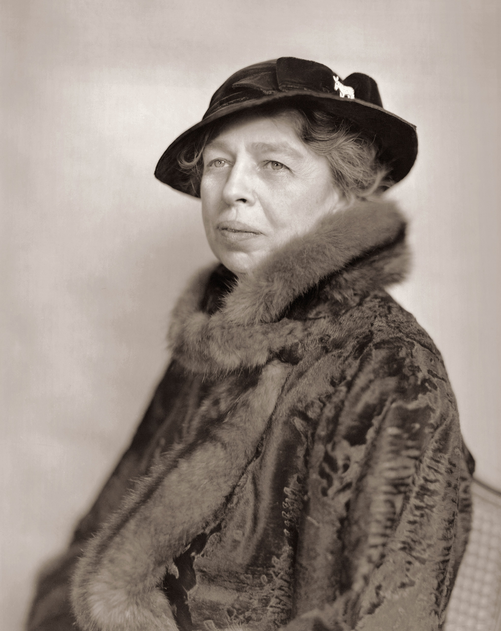 American diplomat and former First Lady Eleanor Roosevelt (1884 - 1962), circa early to mid 1940s.