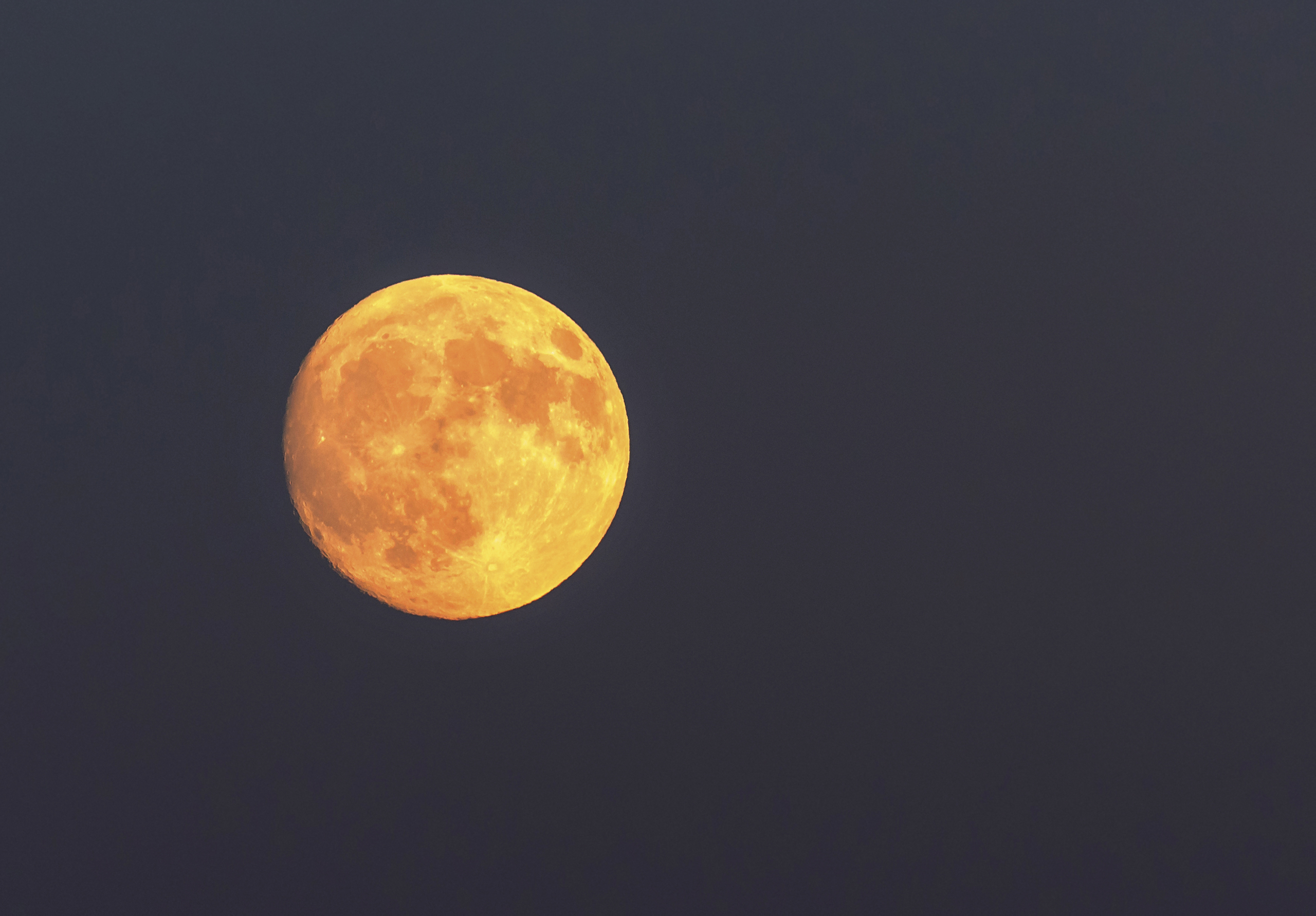 Full moon seen in Toronto, Canada on Oct. 14, 2016.