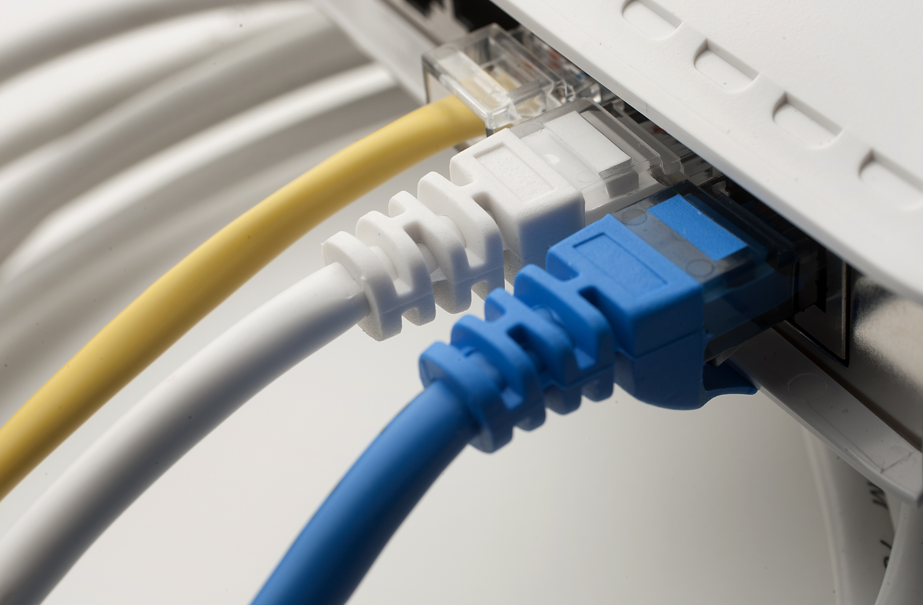 Ethernet cords are arranged for a photograph in New York, U.S., on Friday, Feb. 10, 2012.