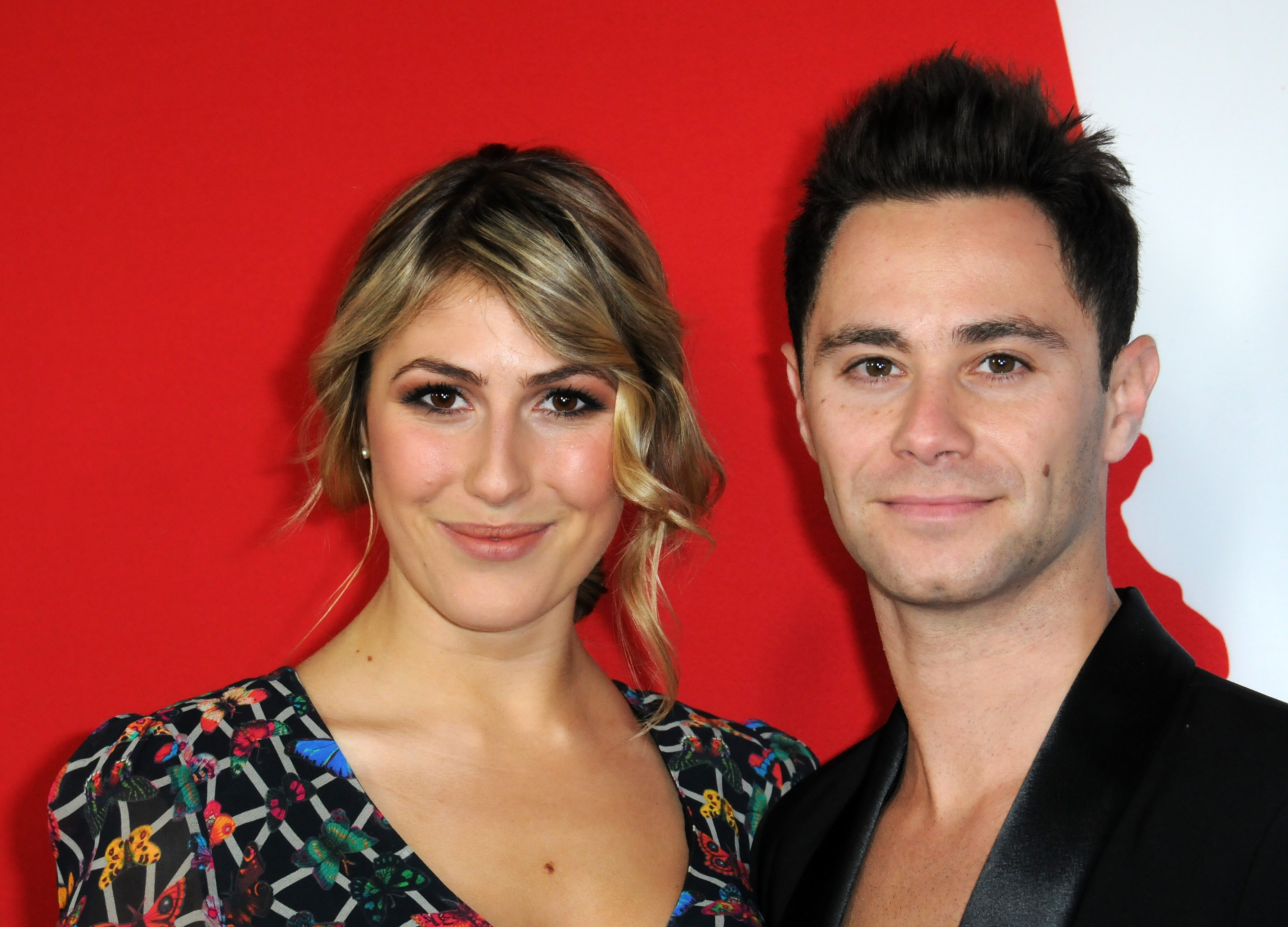 Dancers Emma Slater and Sasha Farber arrive for the Premiere Of Summit Entertainment's  Warm Bodies   held at ArcLight Cinerama Dome on January 29, 2013 in Hollywood, California.