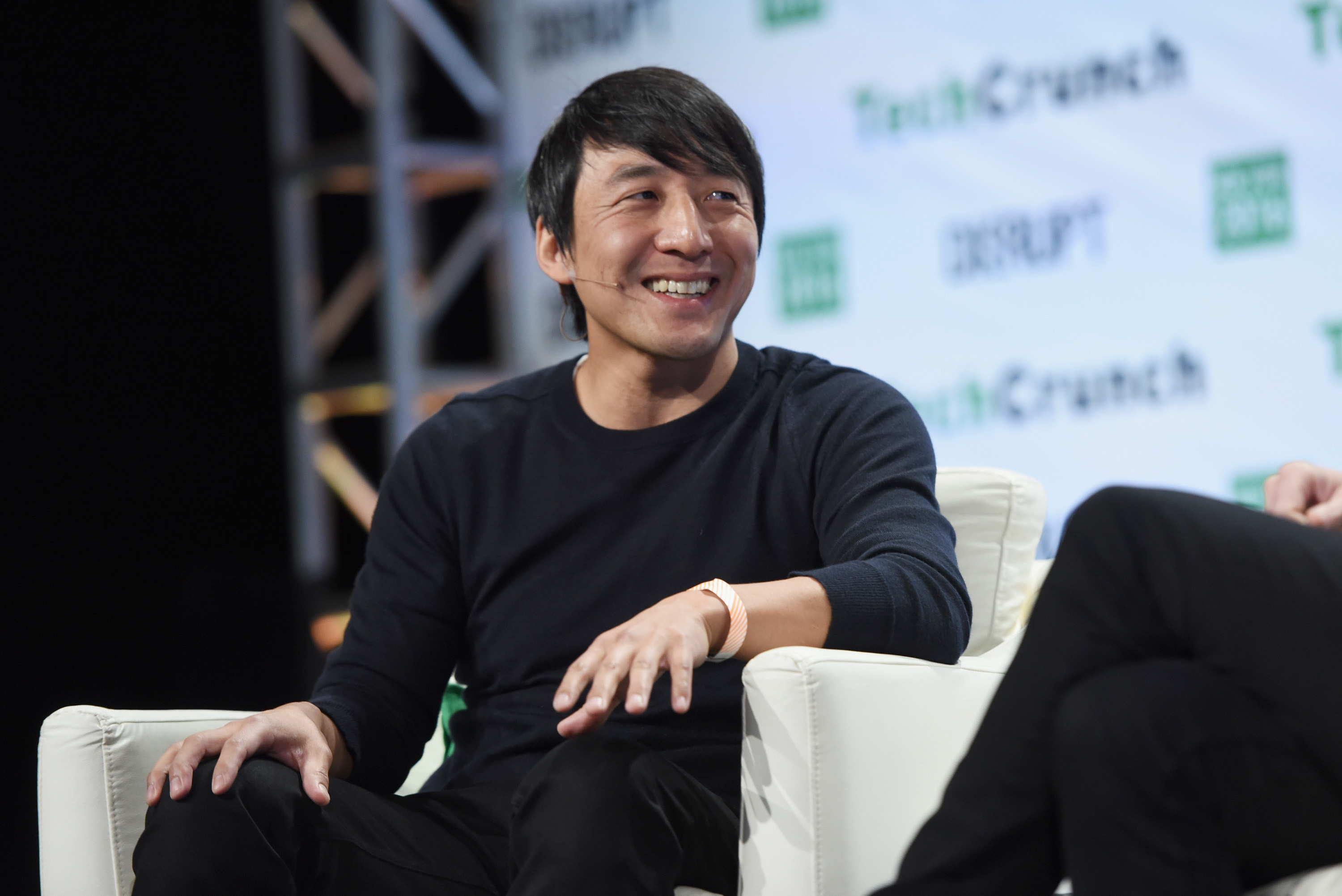 Co-Founder and CEO of Giphy Alex Chung speaks onstage during TechCrunch Disrupt NY 2016 at Brooklyn Cruise Terminal on May 9, 2016 in New York City.