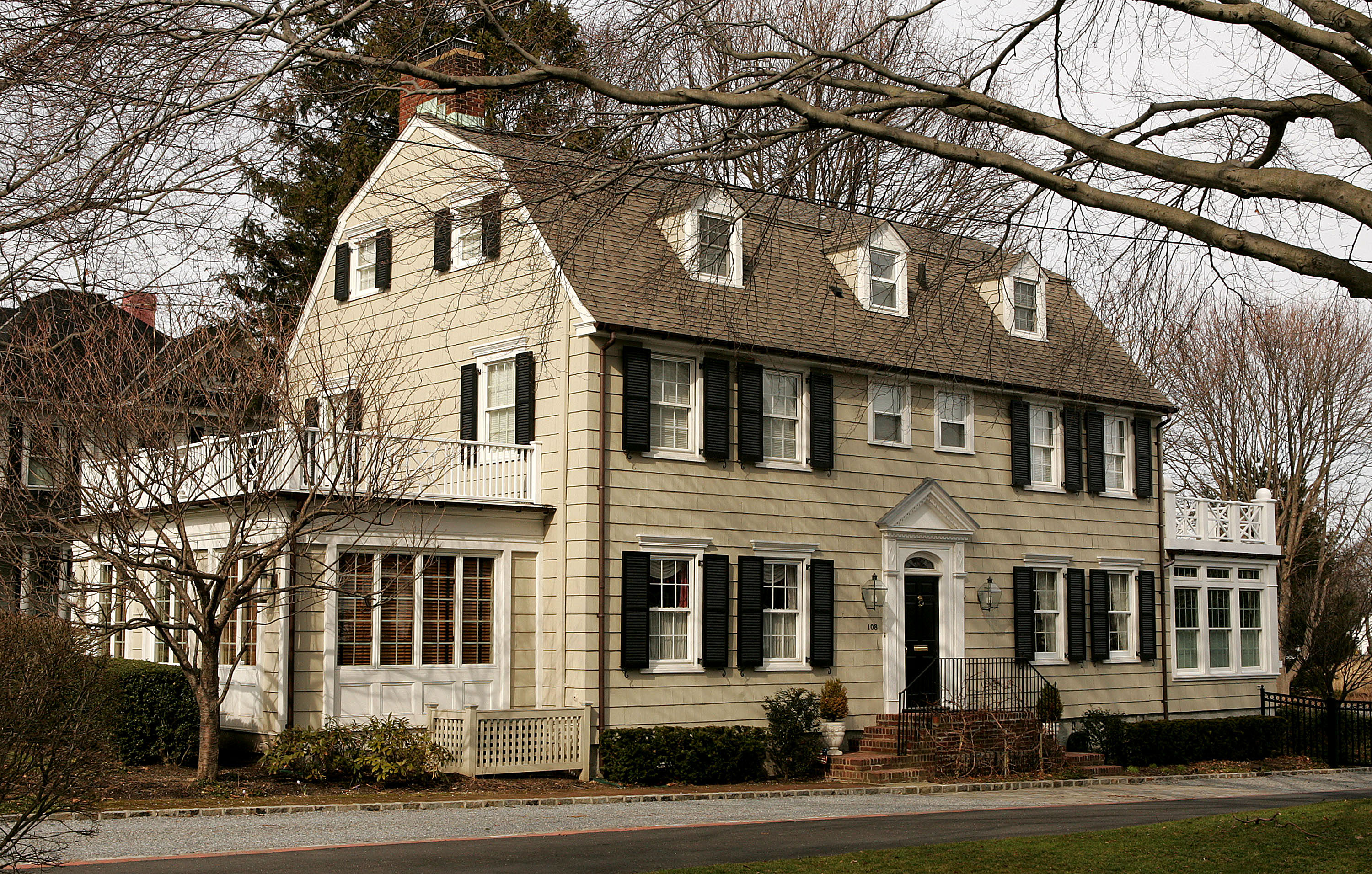 Real estate photograph of a house located at 112 Ocean Avenue in the town of Amityville, New York March 31, 2005.