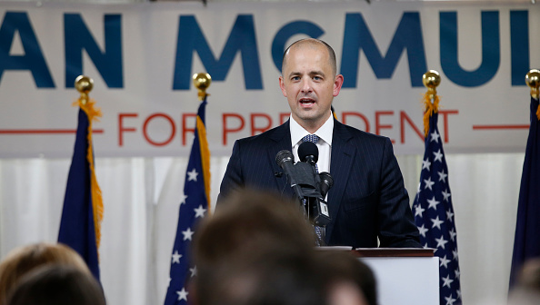 Former CIA agent Evan McMullin announces his presidential campaign as an Independent candidate on August 10, 2016 in Salt Lake City, Utah.