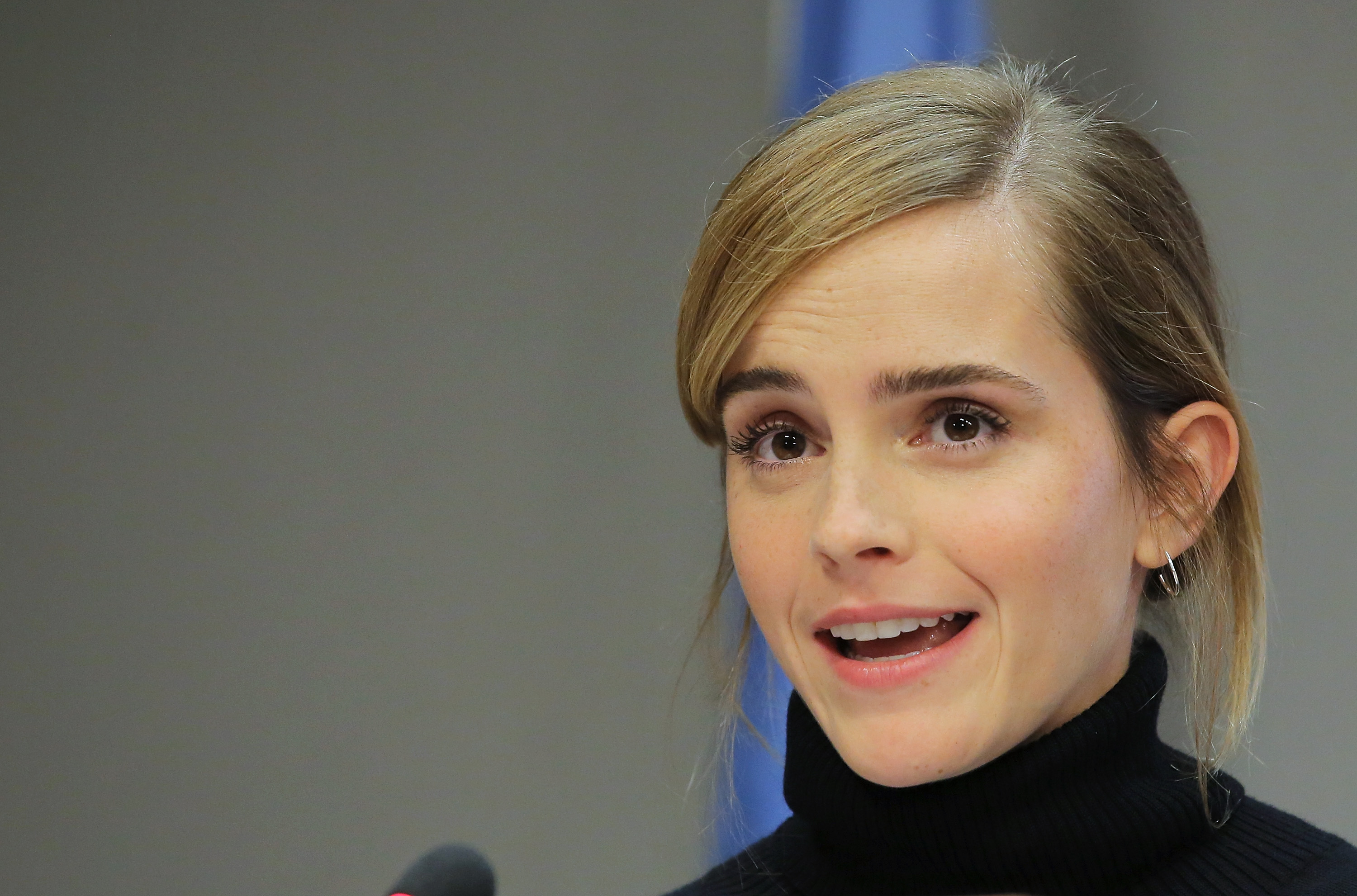 Actress Emma Watson speaks at the launch of the HeForShe IMPACT 10x10x10 University Parity Report at The United Nations on Sept. 20, 2016 in New York City.