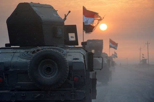 Iraqi forces preparing for the long-awaited assault on Mosul that began Monday.