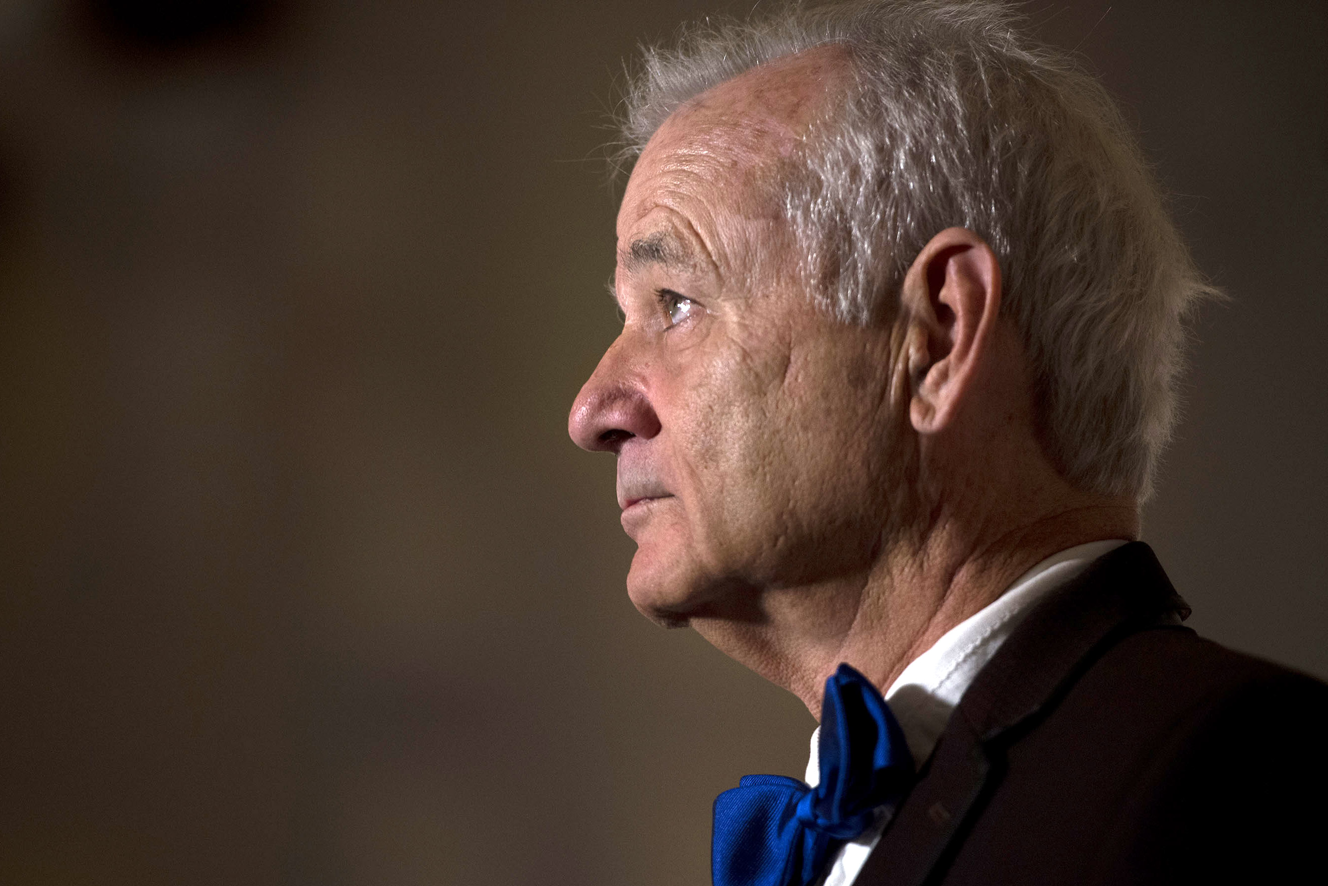 Bill Murray arrives at the Kennedy Center where the actor received the 19th Annual Mark Twain Prize on Oct. 23, 2016 in Washington, DC.