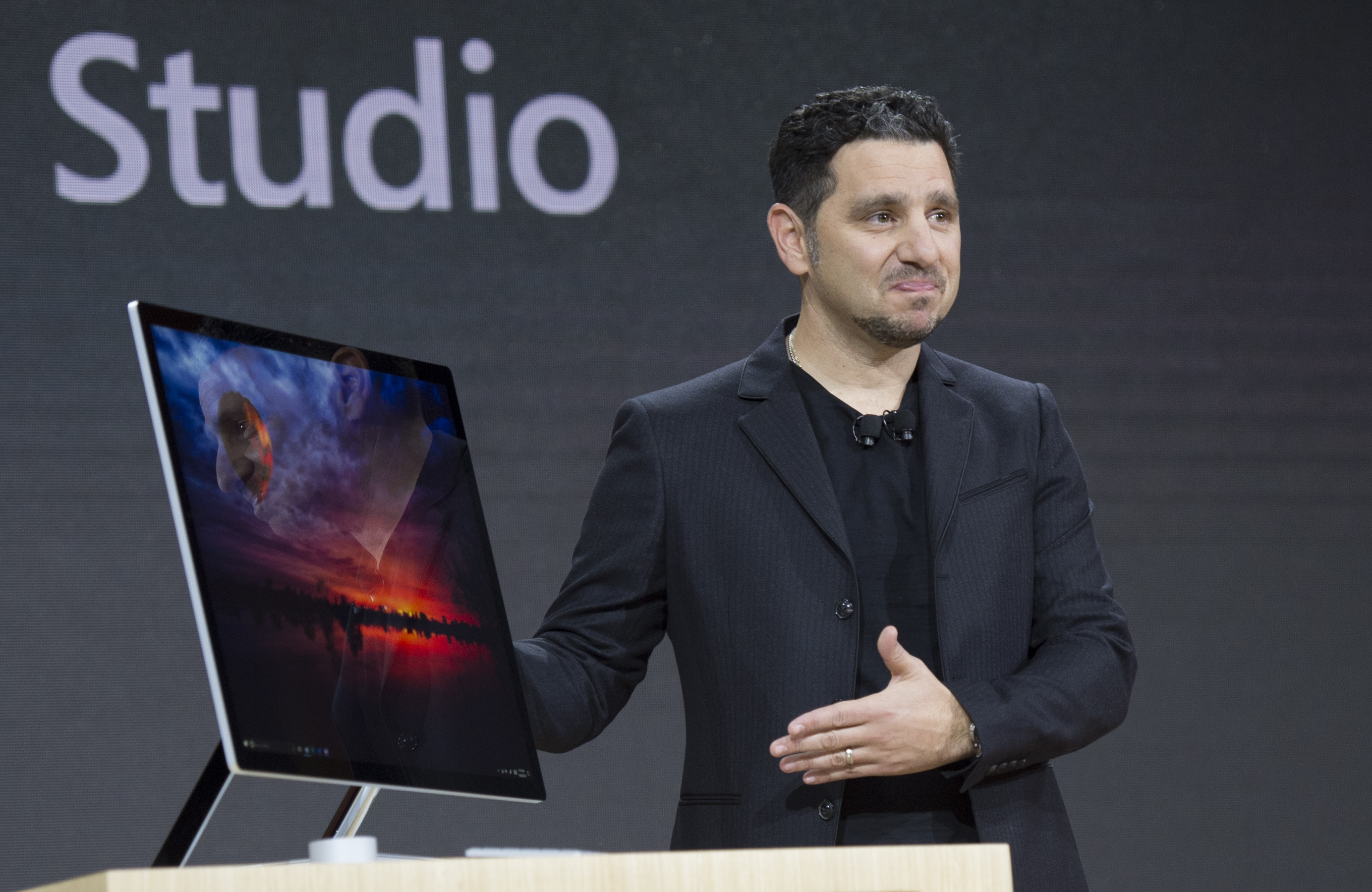 Microsoft Corporate VP of Devices, Panos Panay introduces Microsoft Surface Studio at a Microsoft news conference October 26, 2016 in New York.