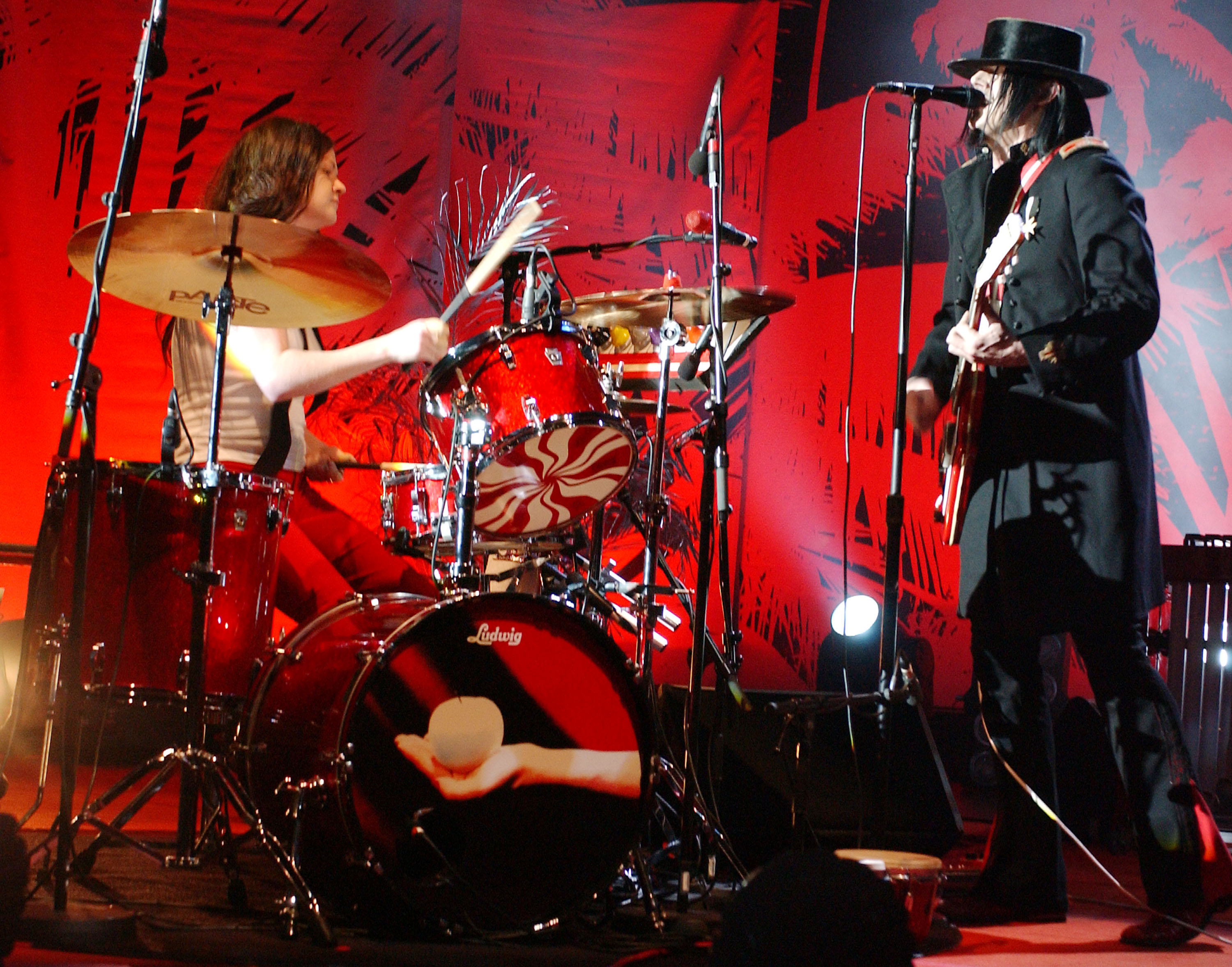 The White Stripes performing at the Hammersmith Appollo Nov. 5, 2005.