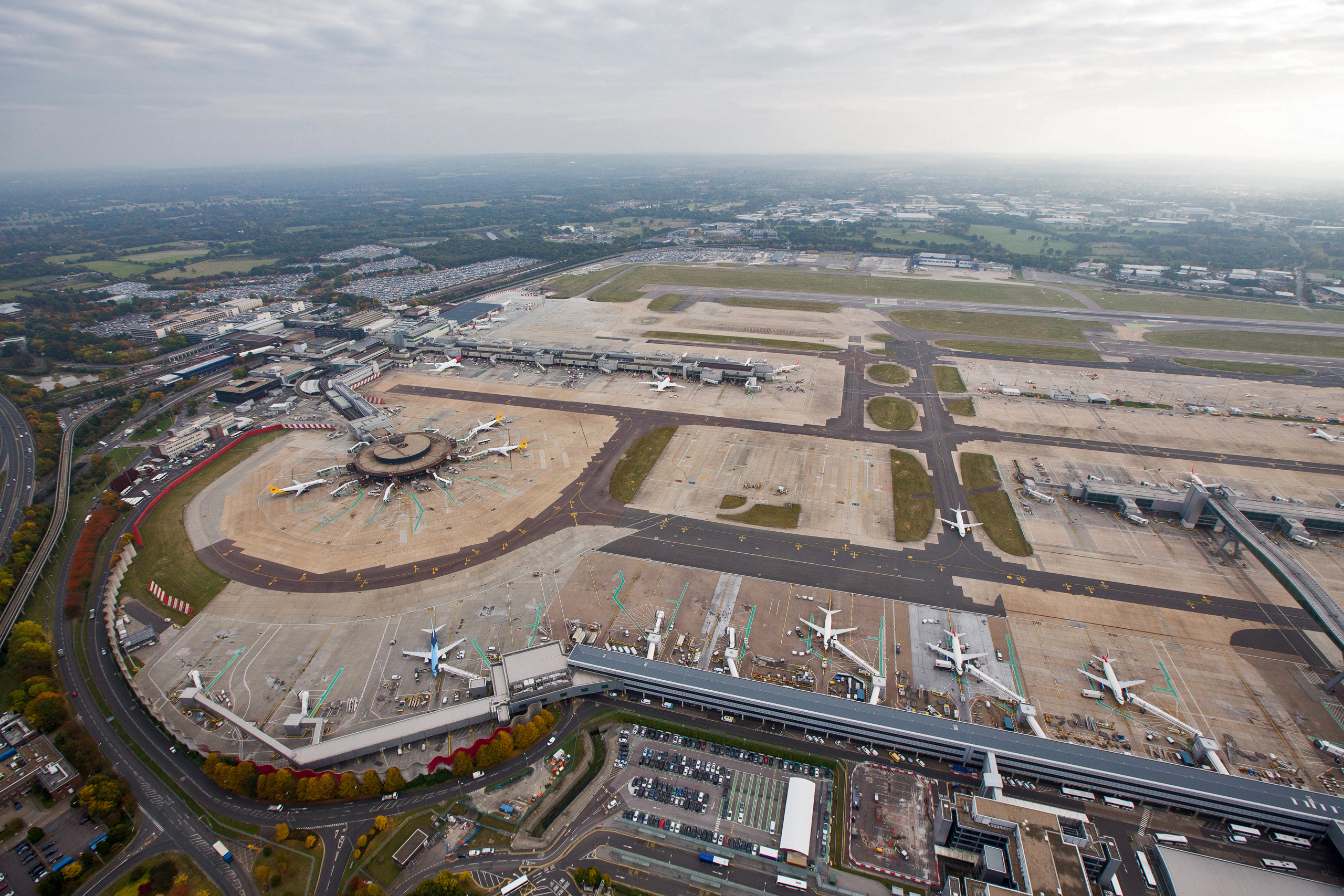 There was chaos at Gatwick airport when drones were spotted above the runways.