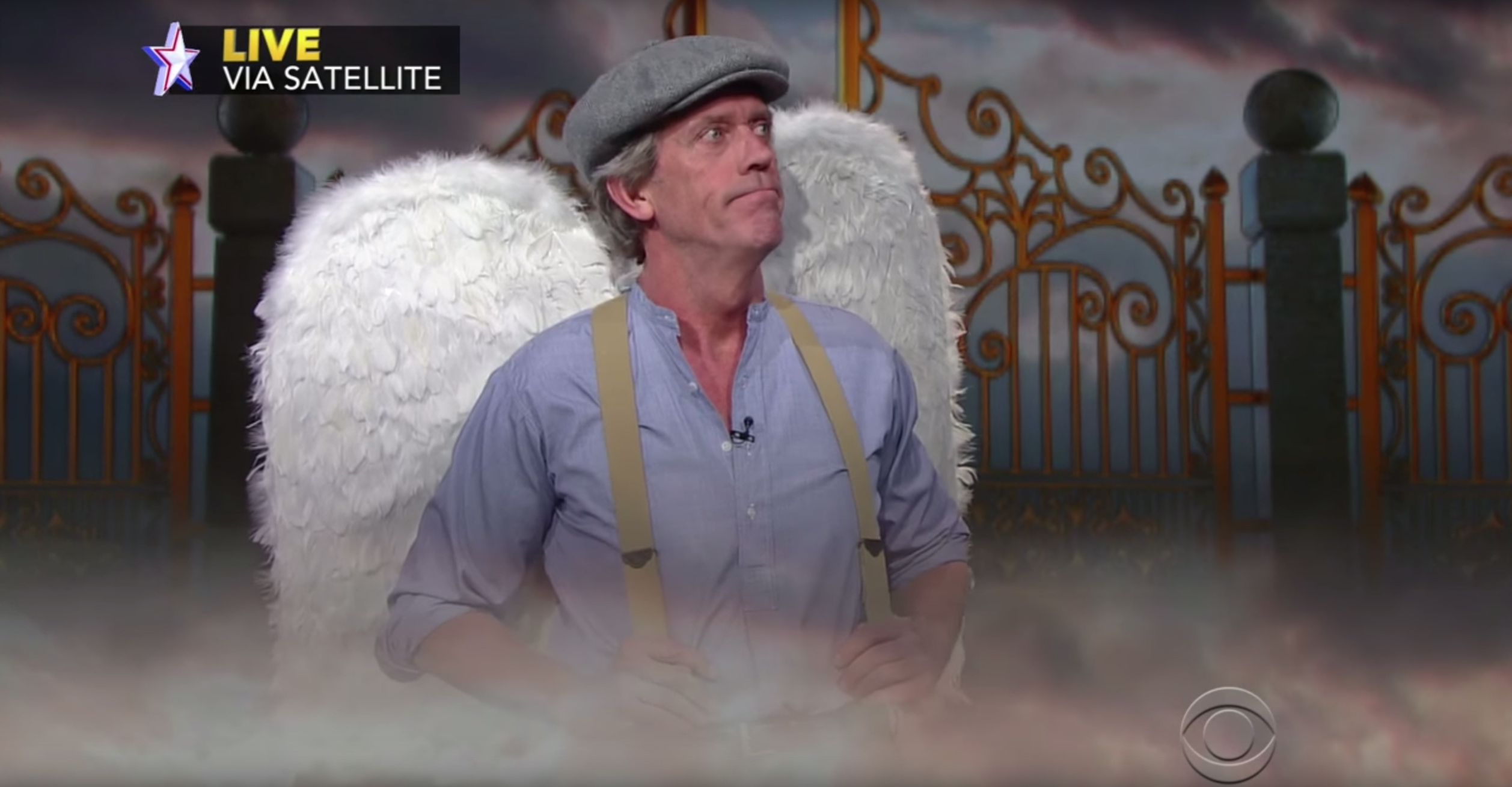 The Late Show with Stephen Colbert had a rather unusual guest on Wednesday night: a 'dead' voter called Horace McNulty