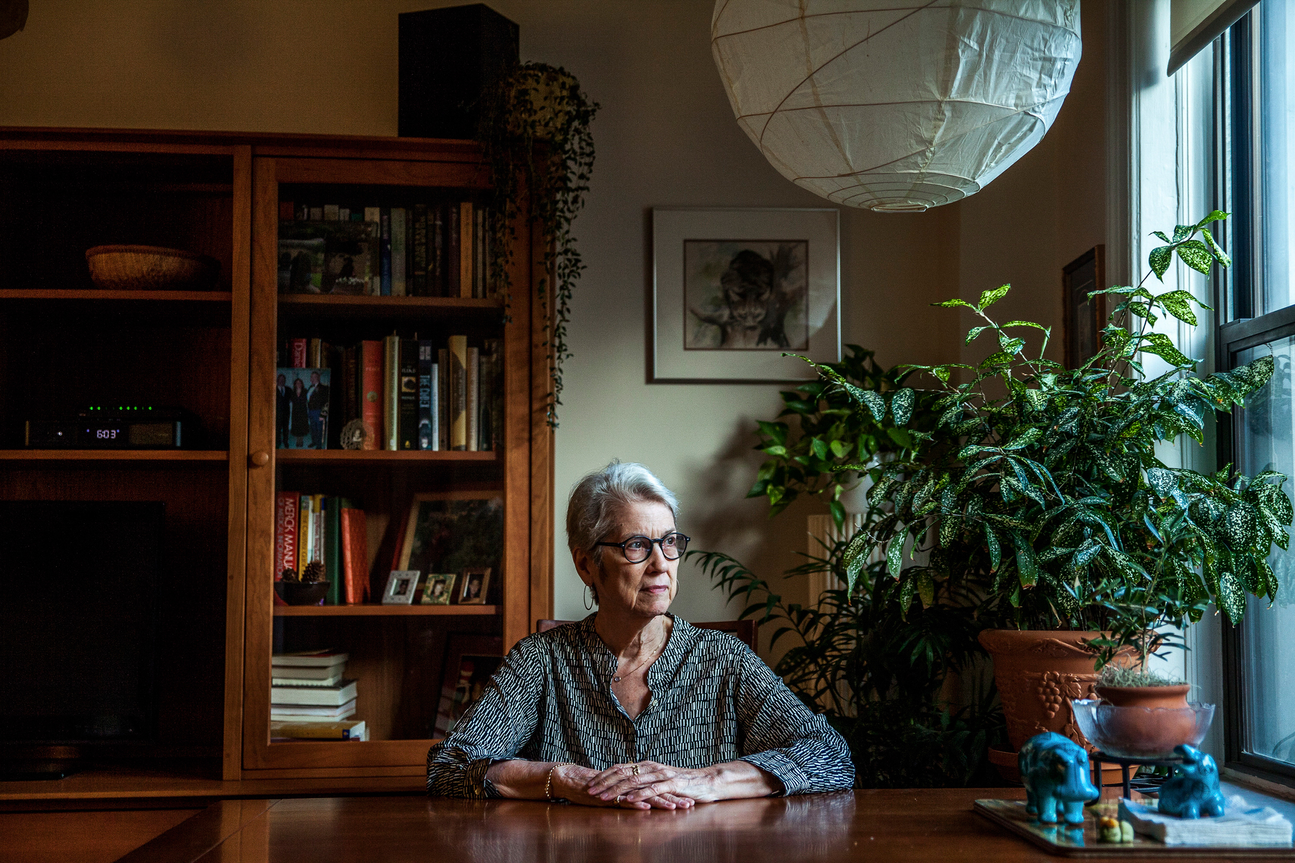 Jessica Leeds, a businesswoman at a paper company who was sitting next to Donald Trump on a flight to New York in the early 1980s, at her home in New York on Oct. 11, 2016. Leeds, who had never met Trump before, said that on the flight he lifted the armrest and began to touch her.