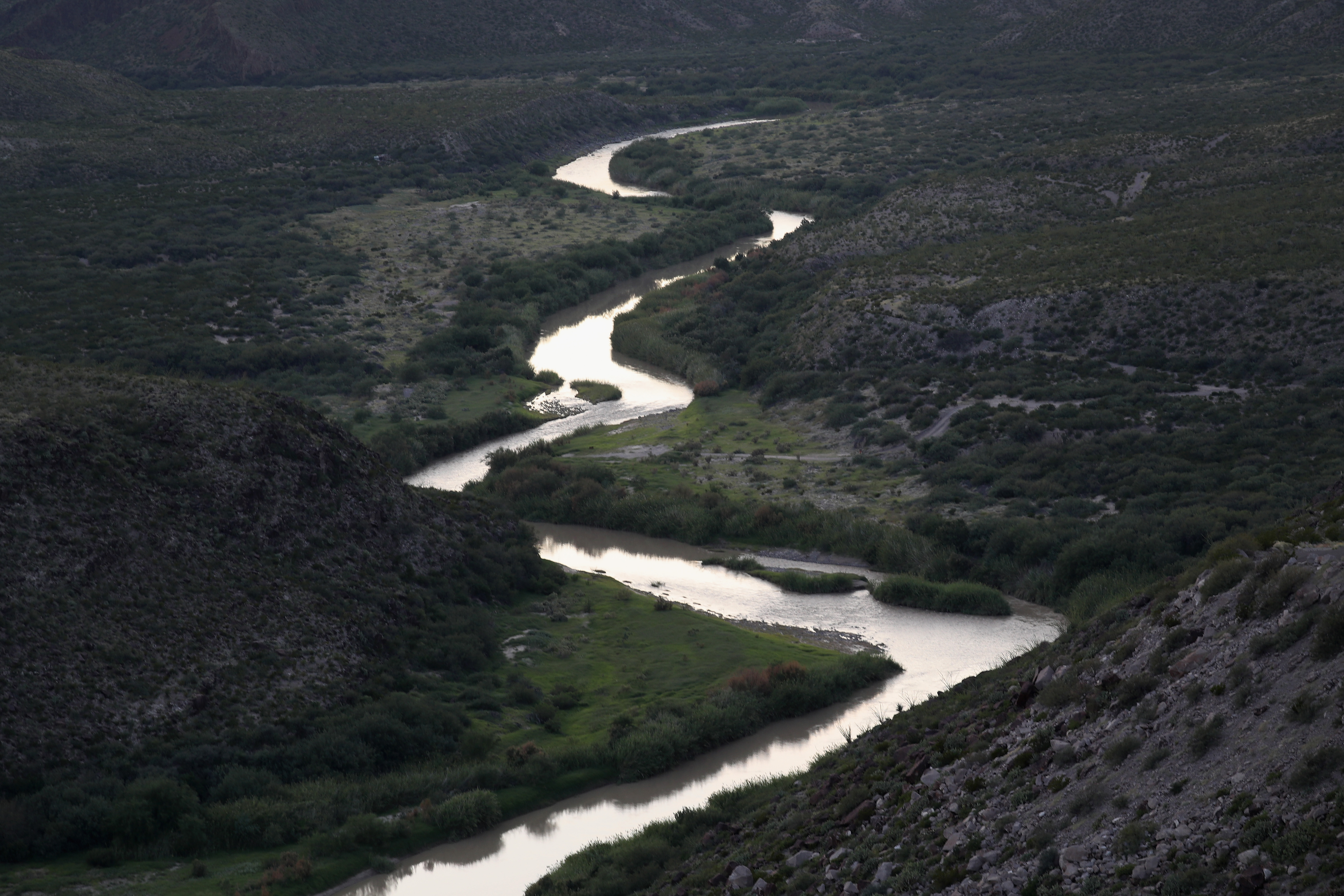The Rio Grande forms a stretch of the U.S.-Mexico border on Oct. 15, 2016 in the Big Bend region of West Texas near Lajitas, Texas. Big Bend is a rugged, vast and remote region along the U.S.-Mexico border and includes the Big Bend National Park.