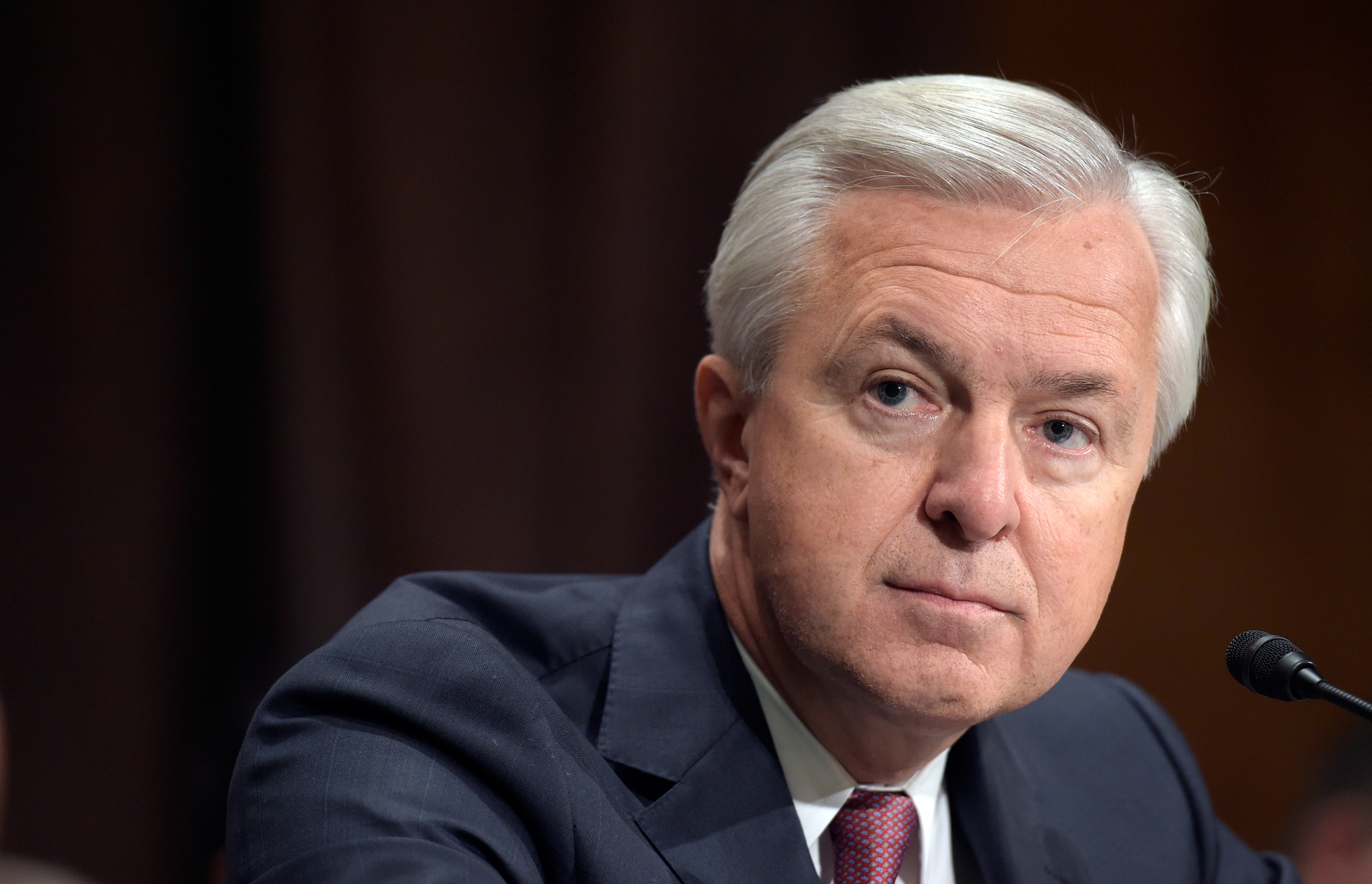Wells Fargo CEO John Stumpf testifies on Capitol Hill in Washington on Sept. 20, 2016.