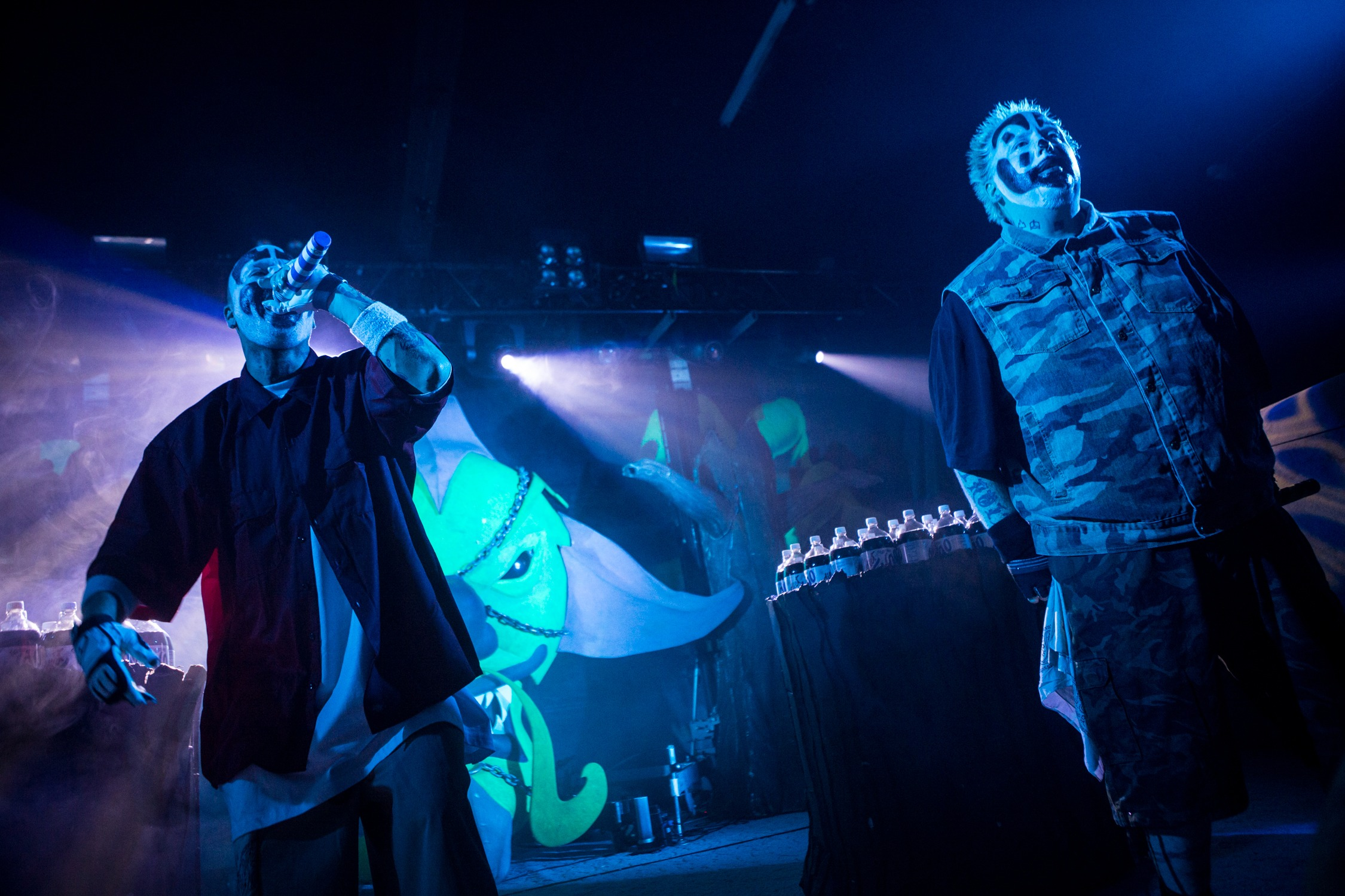Insane Clown Posse performs in concert in Phoenix on Oct. 20, 2015.