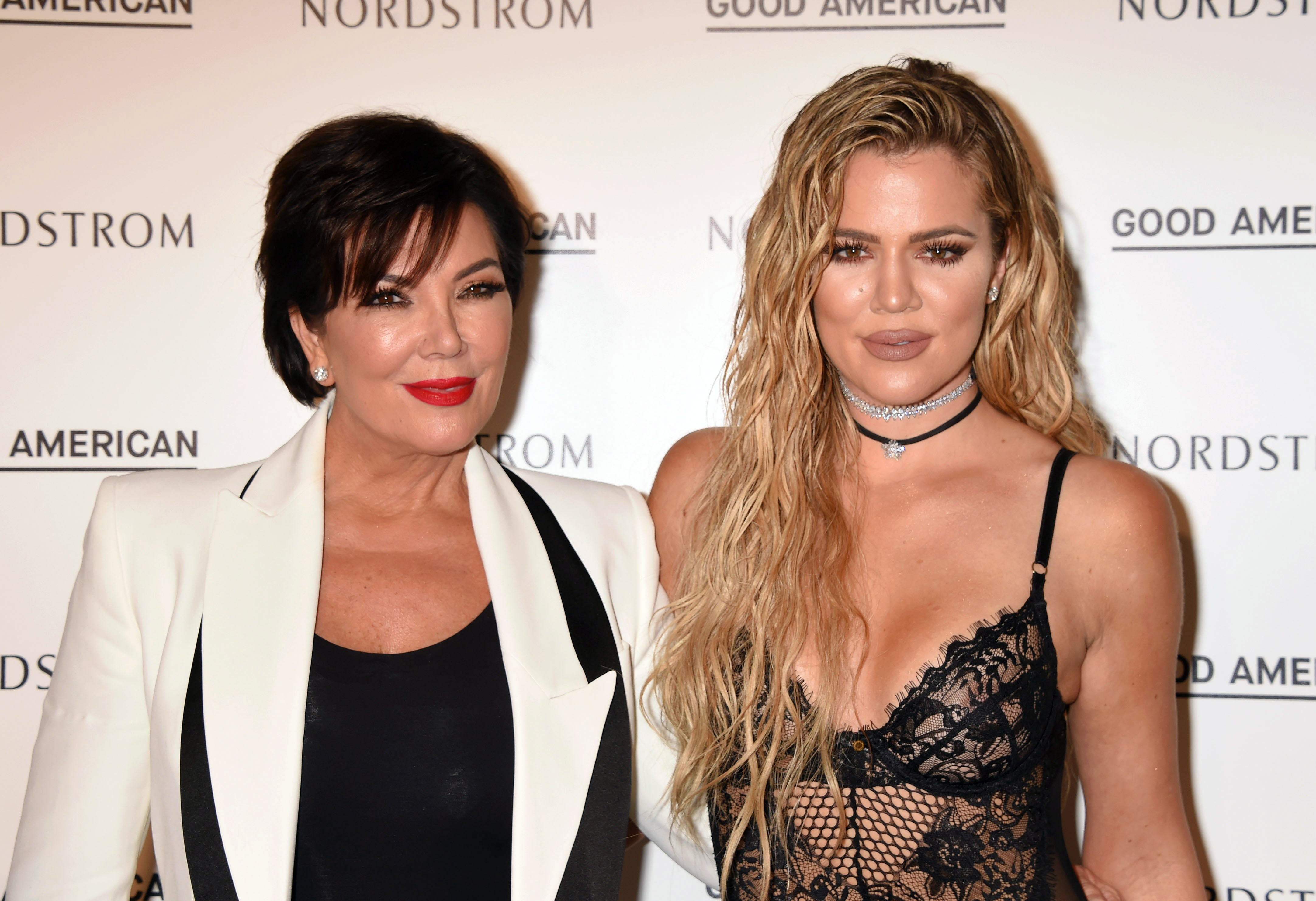 TV personality Kris Jenner (L) and Good American Founding Partner Khloe Kardashian attend the Good American Launch Event at Nordstrom at the Grove on October 18, 2016 in Los Angeles, California.