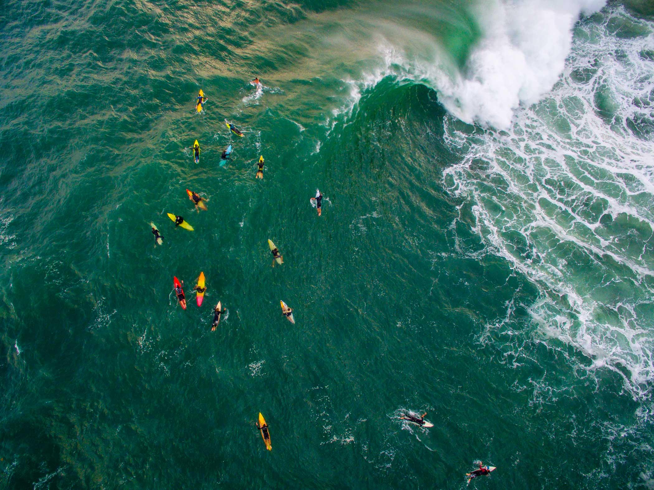 Surf session on the beach of Leblon in Rio de Janeiro.