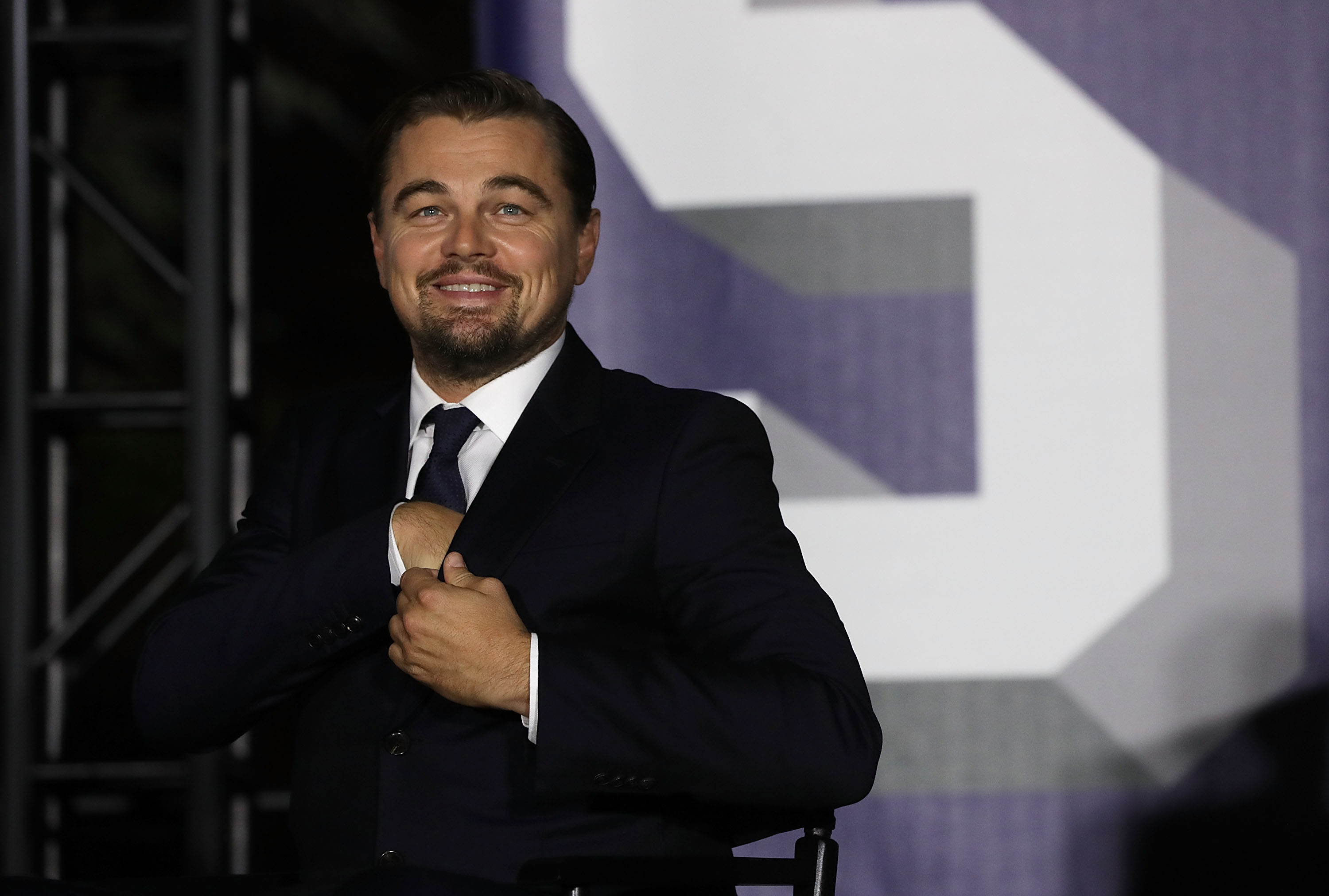 Actor Leonardo DiCaprio participates in a conversation during the South by South Lawn, a White House festival of ideas, art, and action, October 3, 2016 at the South Lawn of the White House in Washington, DC. The White House hosts the event to call on Americans  to discover their own way to make a positive difference in our country.