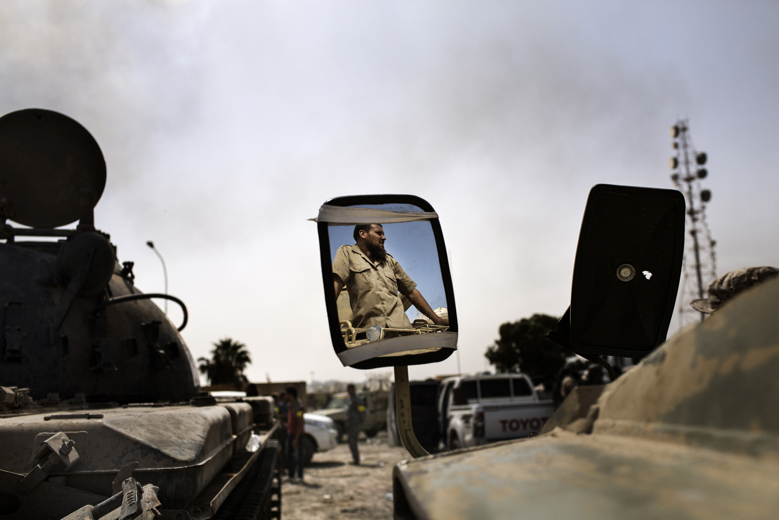 Portrait of a fighter loyal to Libya's Government of National Accord on the western frontline against ISIS (Islamic State), Sirte, Libya, Oct. 2, 2016.