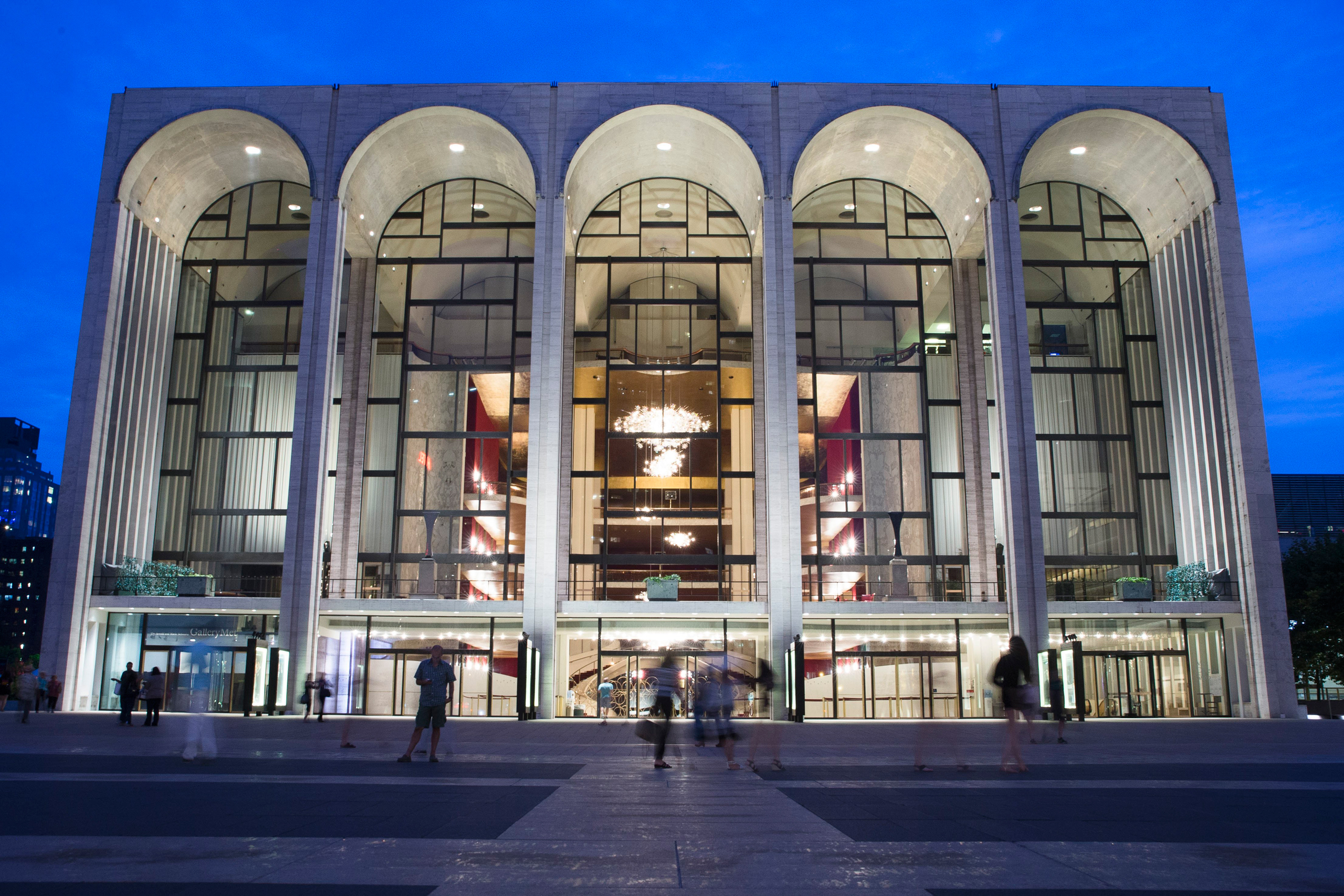 Tthe Metropolitan Opera house at New York's Lincoln Center on Aug. 1, 2014.