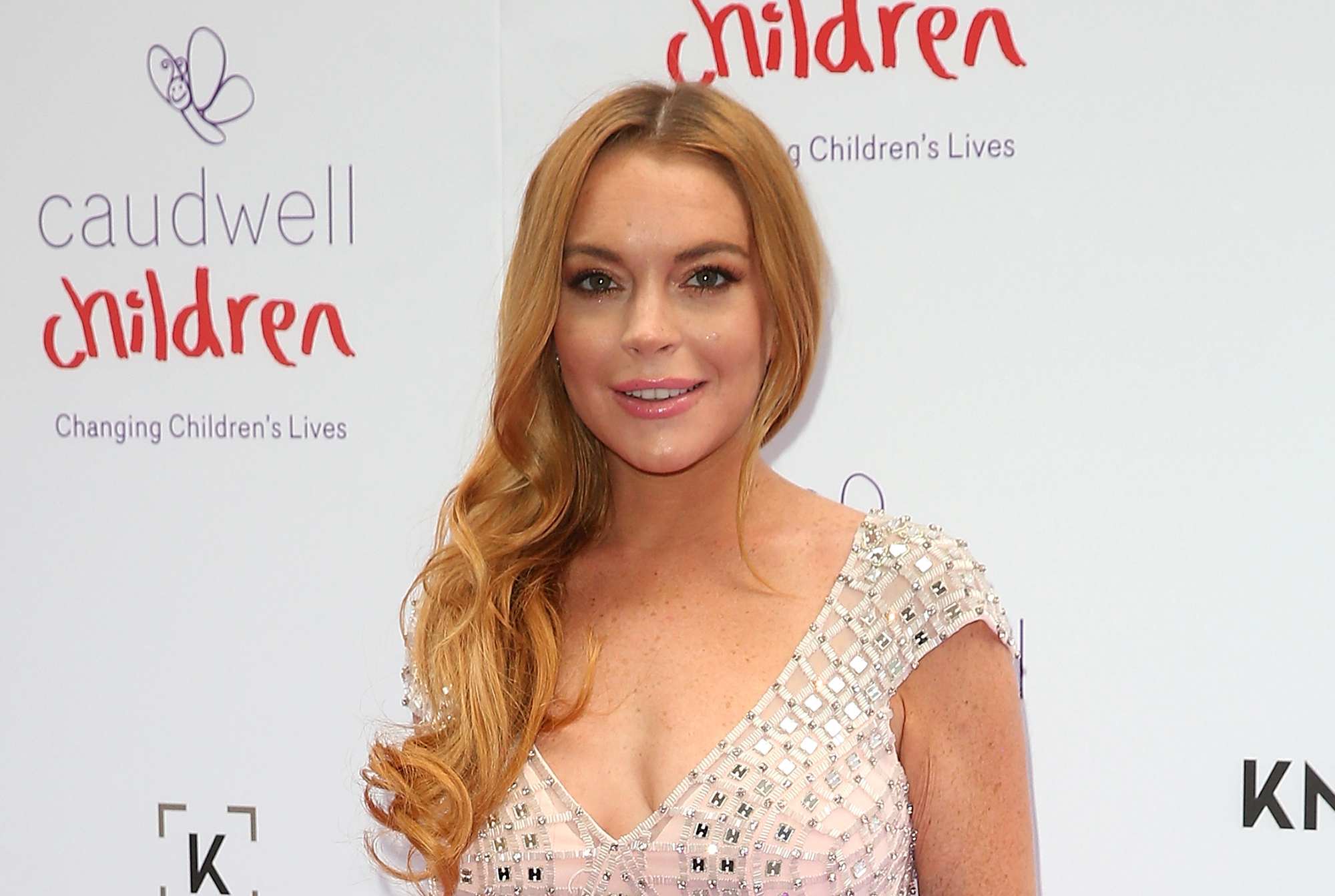 Lindsay Lohan arrives for the 2016 Butterfly Ball (Photo by Danny Martindale/WireImage)