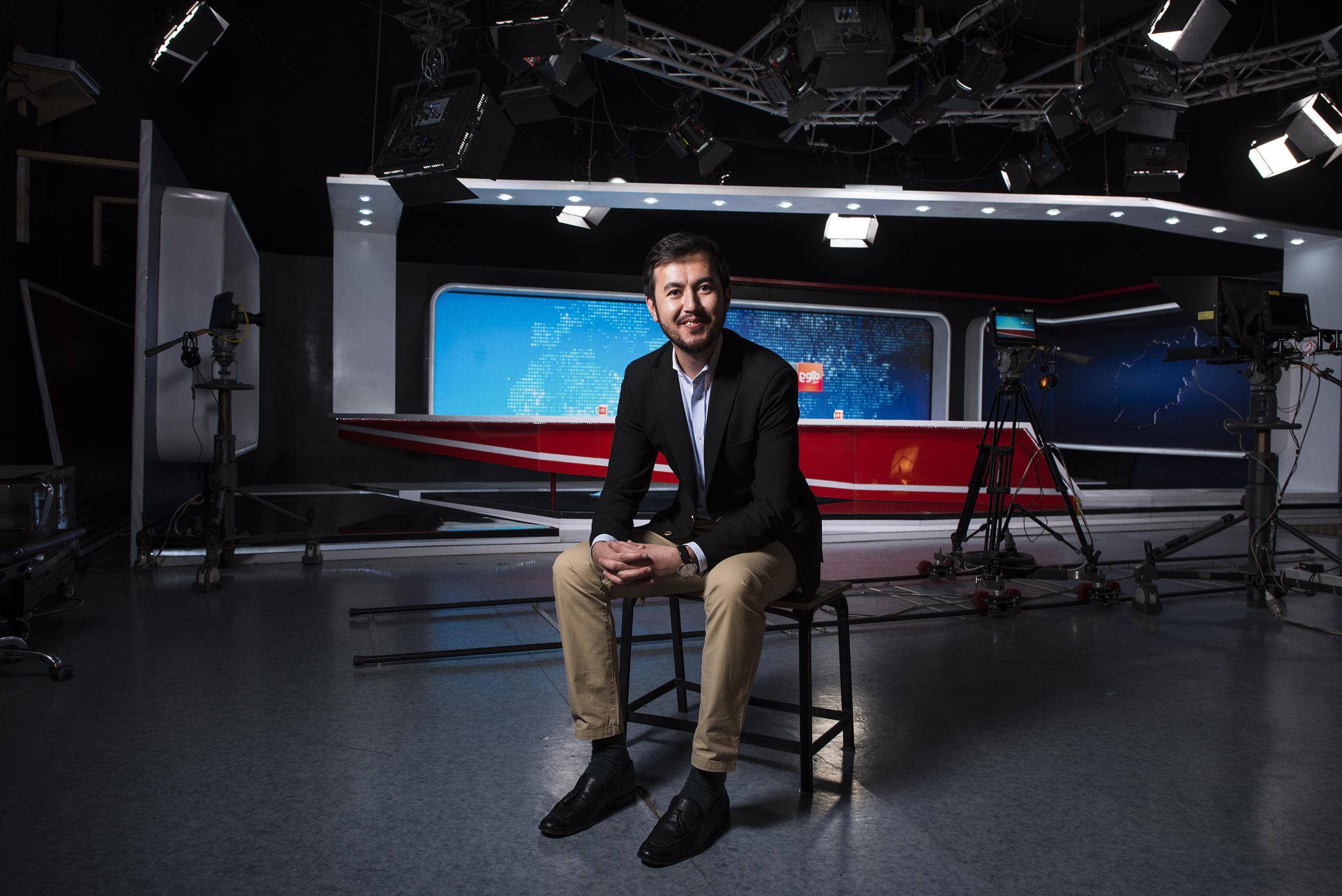 Lotfullah Najafizada, News Director at Tolo News in Kabul, Afghanistan, Sept. 2016.