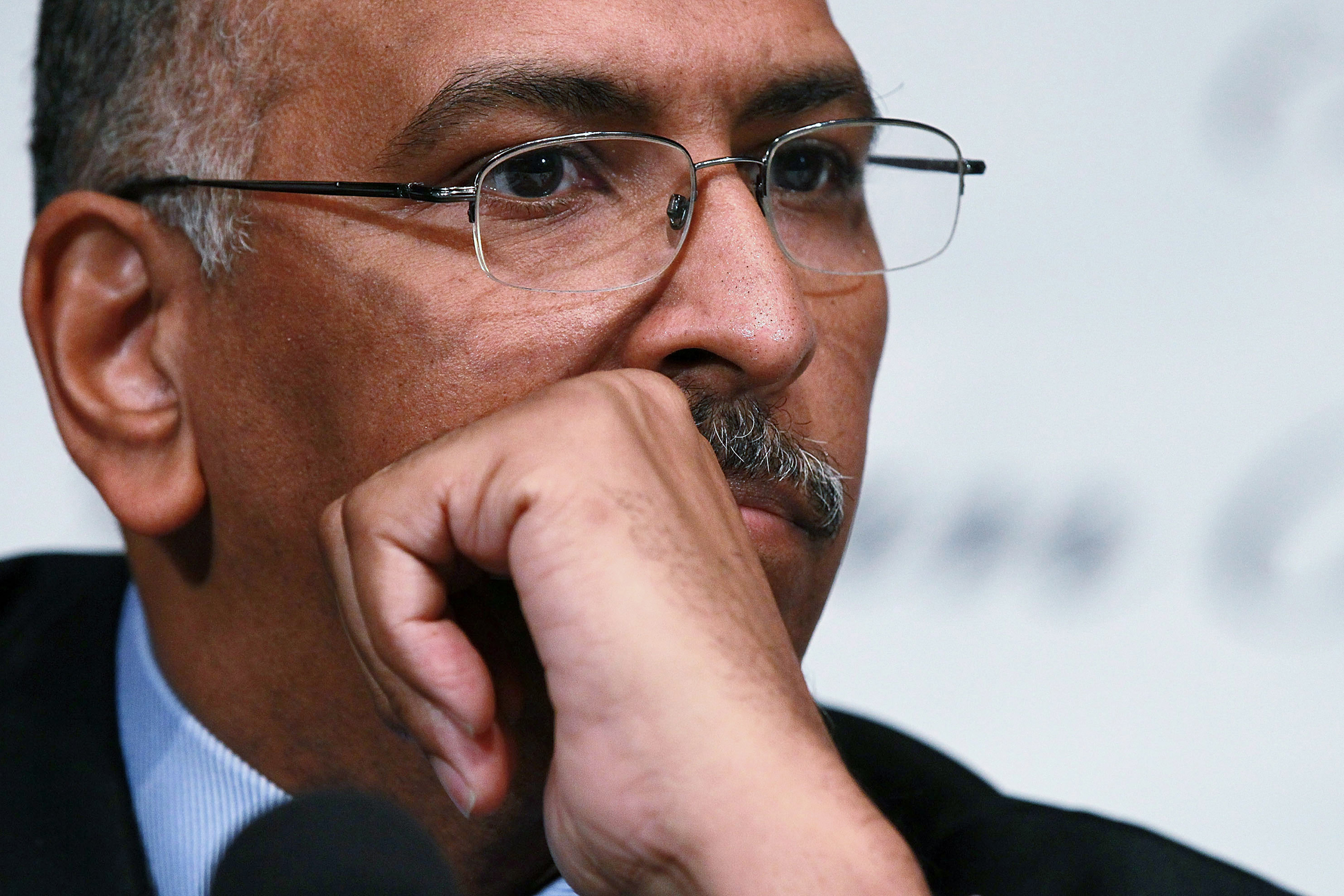 Former Republican National Committee Chairman Michael Steele participates in a debate between chairmanship candidates of the RNC, on Jan. 3, 2011 in Washington, D.C.