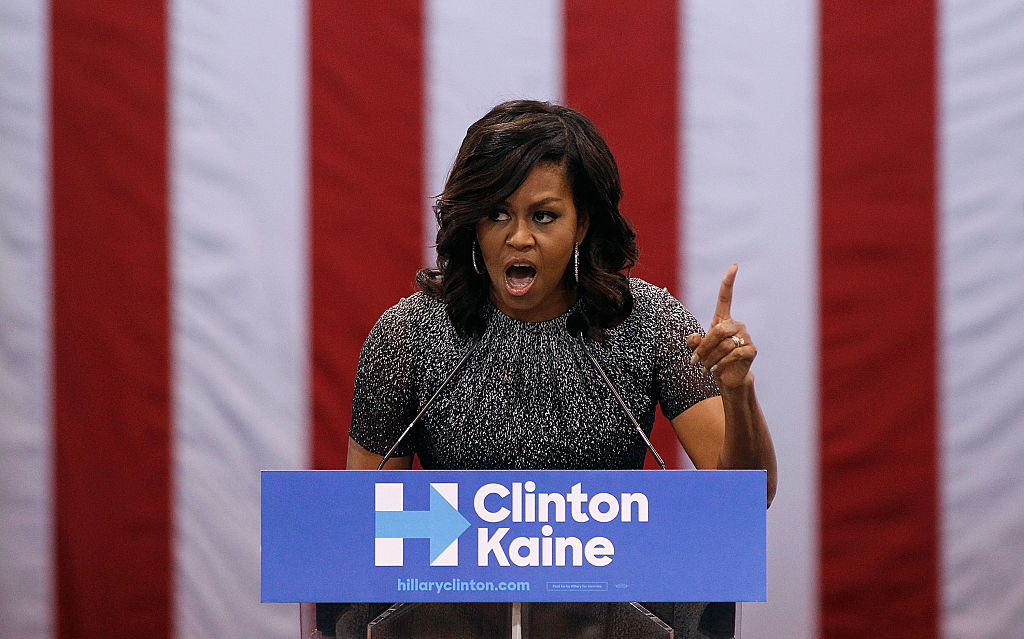 Michelle Obama on Oct. 20, 2016 in Phoenix, Arizona.