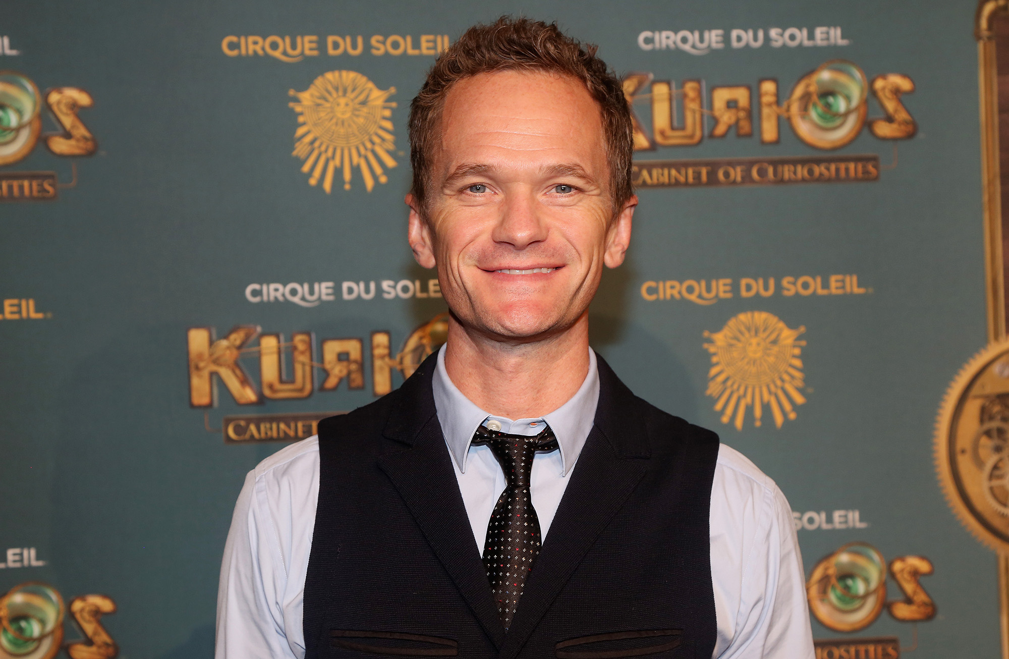 Neil Patrick Harris poses at The Opening Night of  Cirque du Soleil: Kurios - Cabinet Of Curiosities  at Randall's Island Park on September 29, 2016 in New York Cit  (Photo by Bruce Glikas/Bruce Glikas/Getty Images)