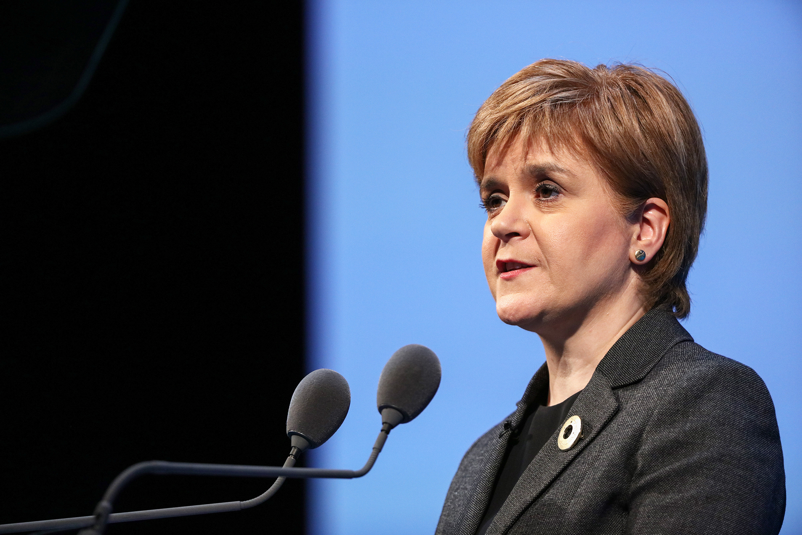 Nicola Sturgeon, Scotland's first minister and leader of the Scottish National Party (SNP), speaks during the Institute of Directors (IoD) Annual Convention 2016 at the Royal Albert Hall in London, U.K., on Sept. 27, 2016