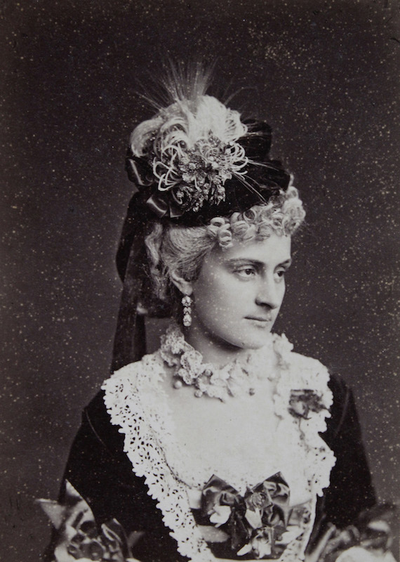 Countess Kinsky photographed in 1869 in Vienna