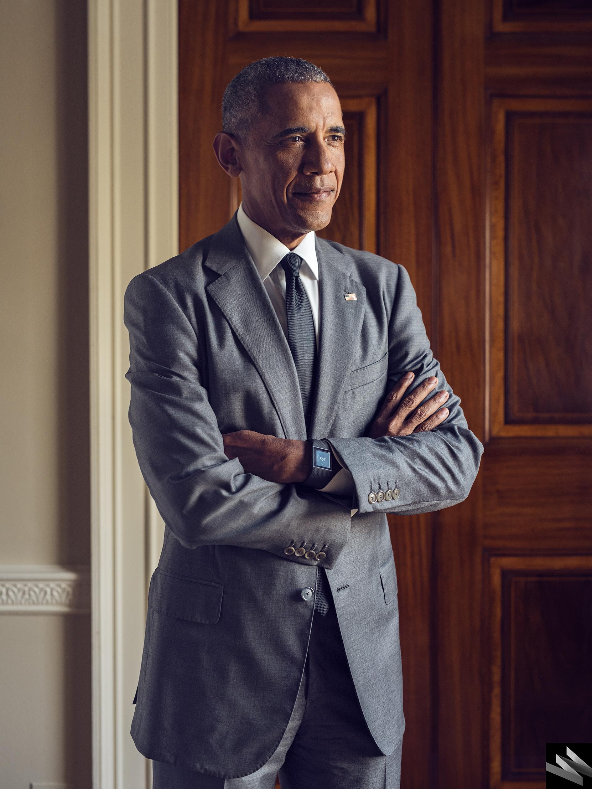 Portrait of Barack Obama for Wired, October 2016
