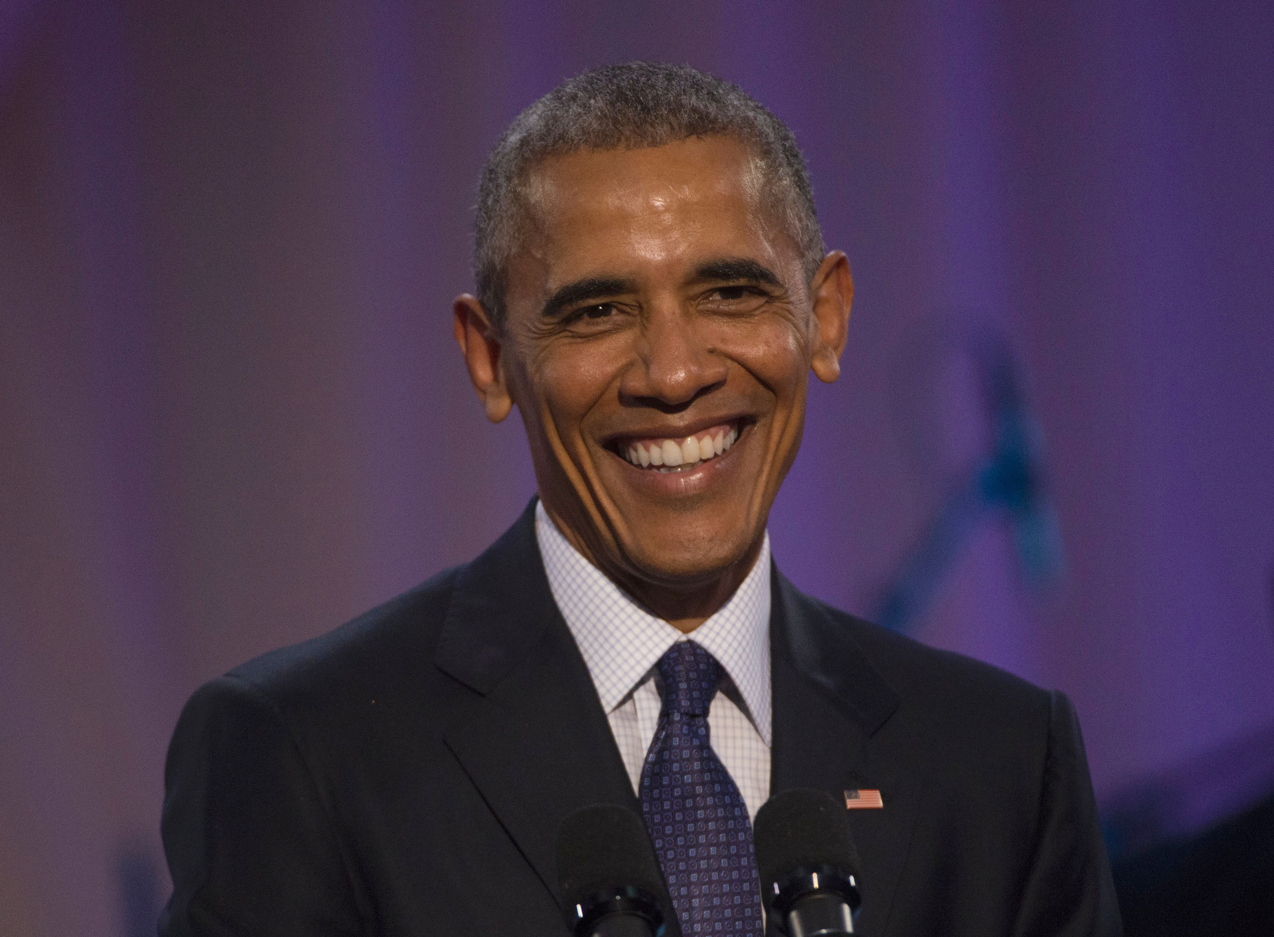 President Barack Obama delivers remarks at an evening performance of BET's  Love and Happiness: A Musical Experience  at the White House in Washington on Oct. 21, 2016.