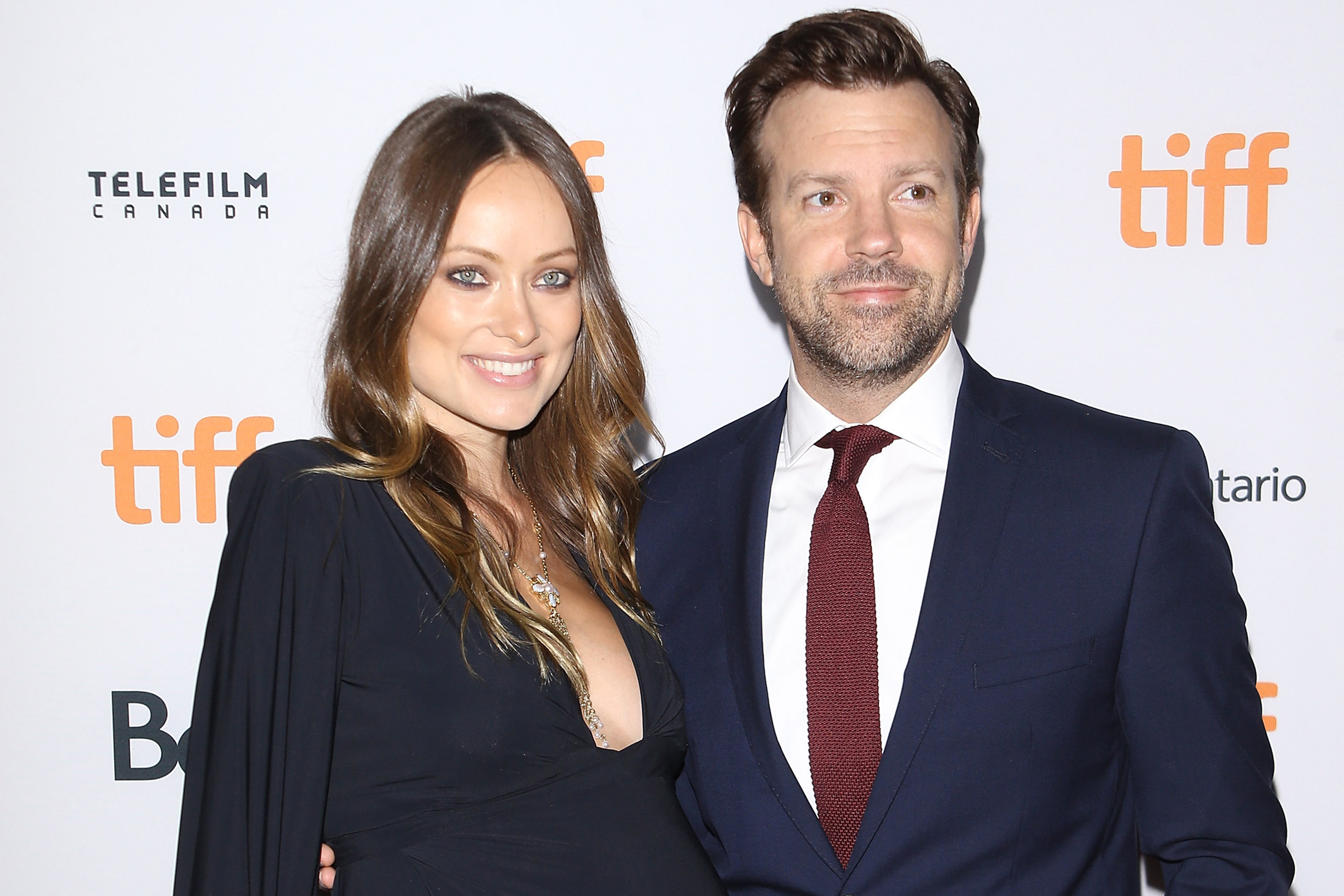 Olivia Wilde and Jason Sudeikis arrive at the 2016 Toronto International Film Festival's  Colossal  premiere at Ryerson Theatre in Toronto on Sept. 9, 2016.