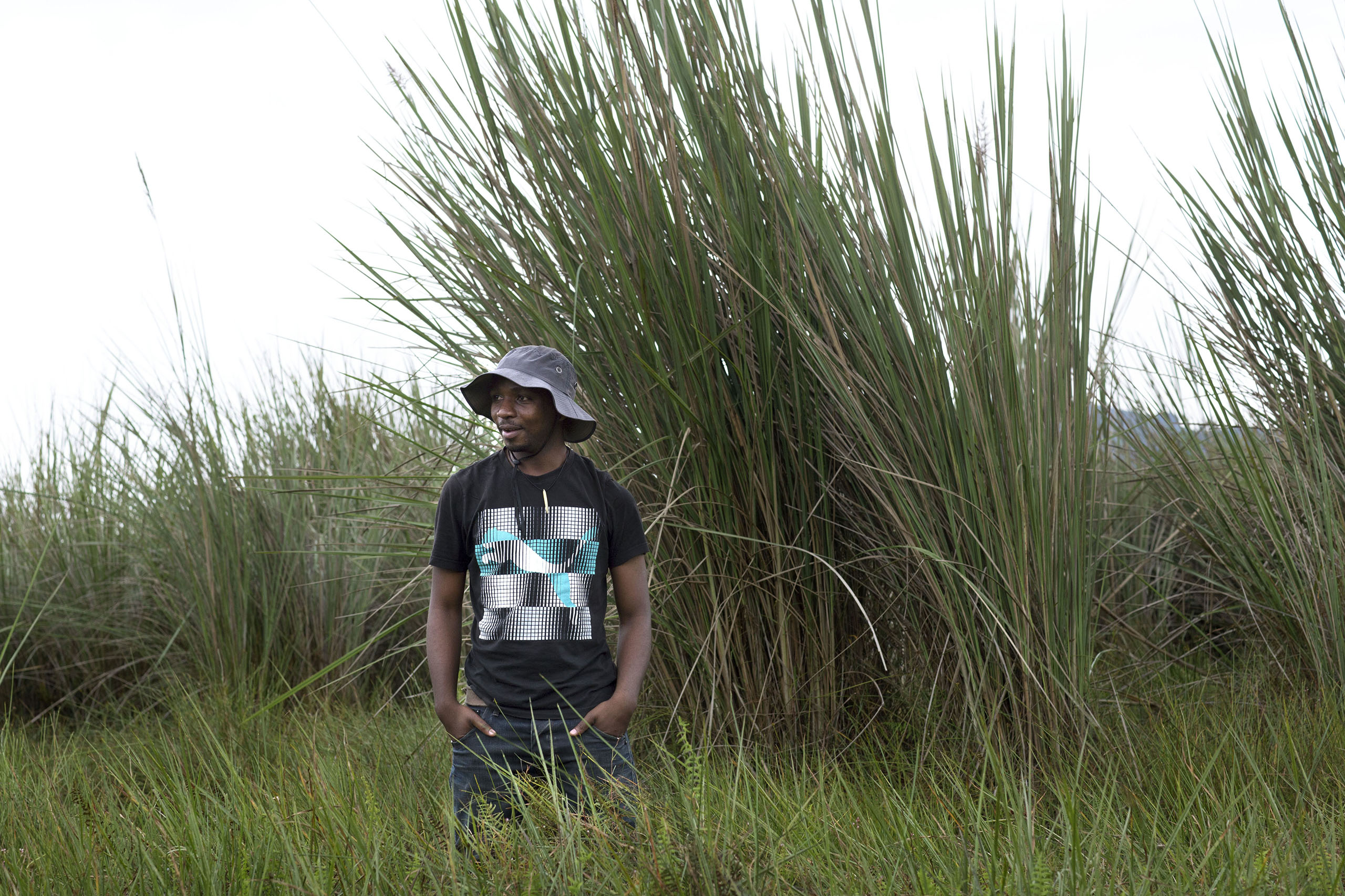 Olivier Nsengimana, at Volcanoes National Park in north-west Rwanda. 2014.
